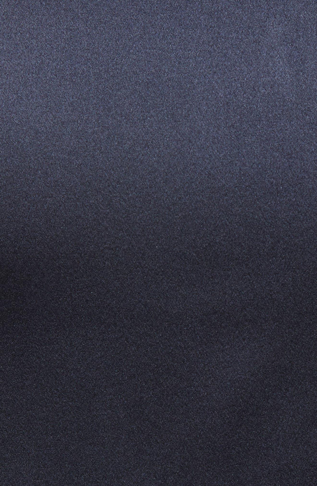 Silk Coat,                             Alternate thumbnail 3, color,                             Midnight