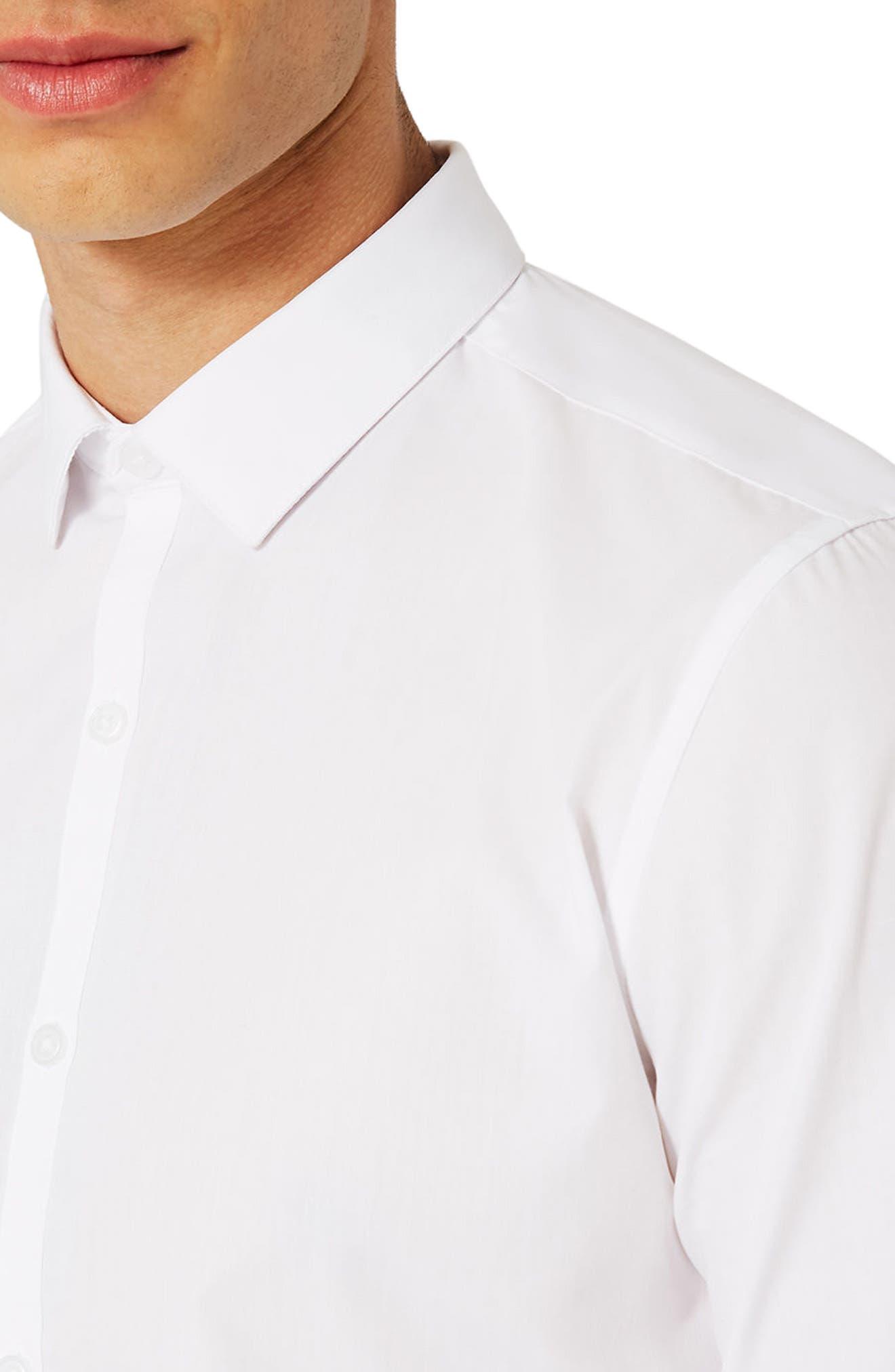 Slim Fit Dress Shirt,                             Alternate thumbnail 5, color,                             White