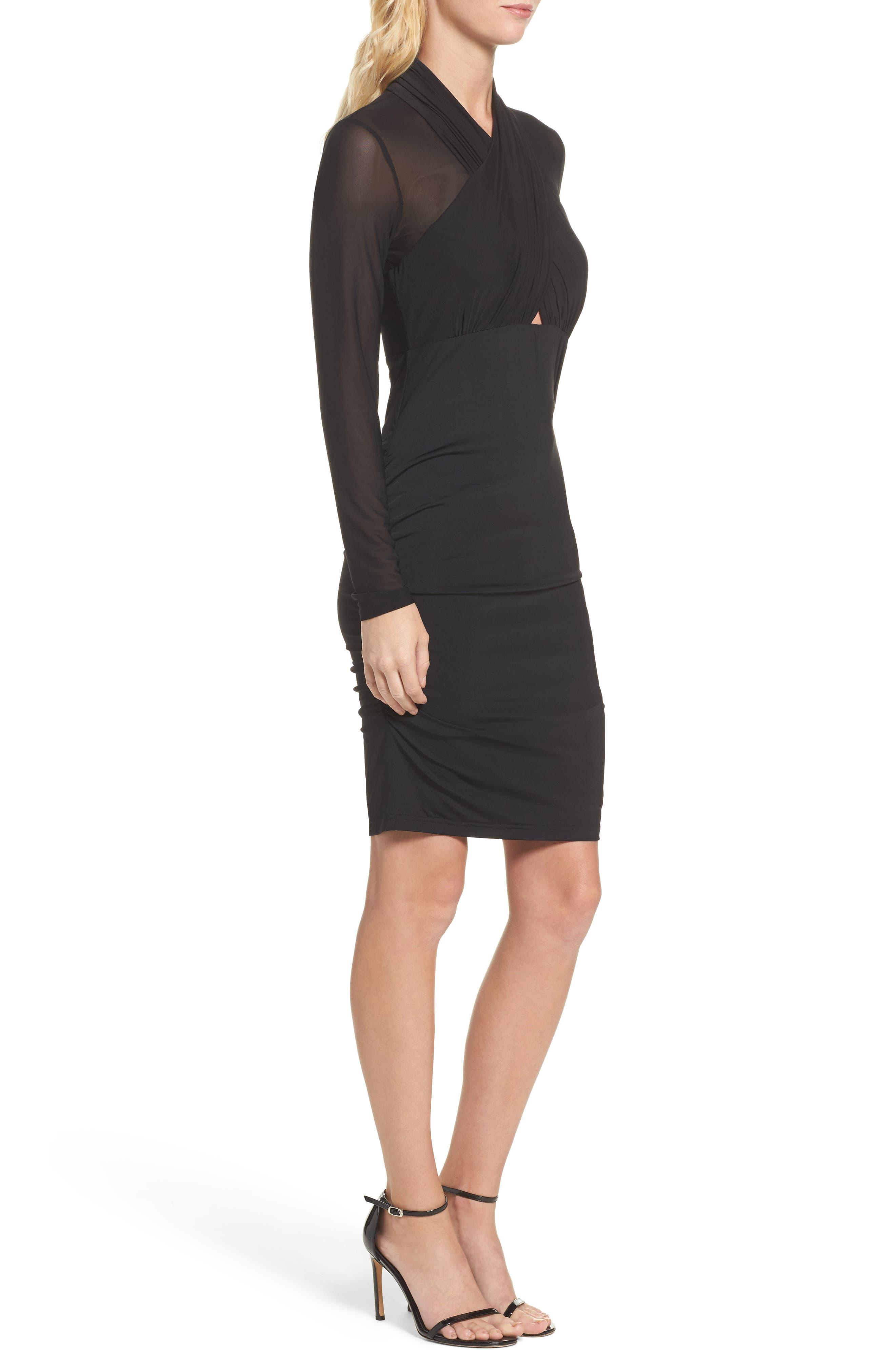 Allure Sheath Dress,                             Alternate thumbnail 3, color,                             Black