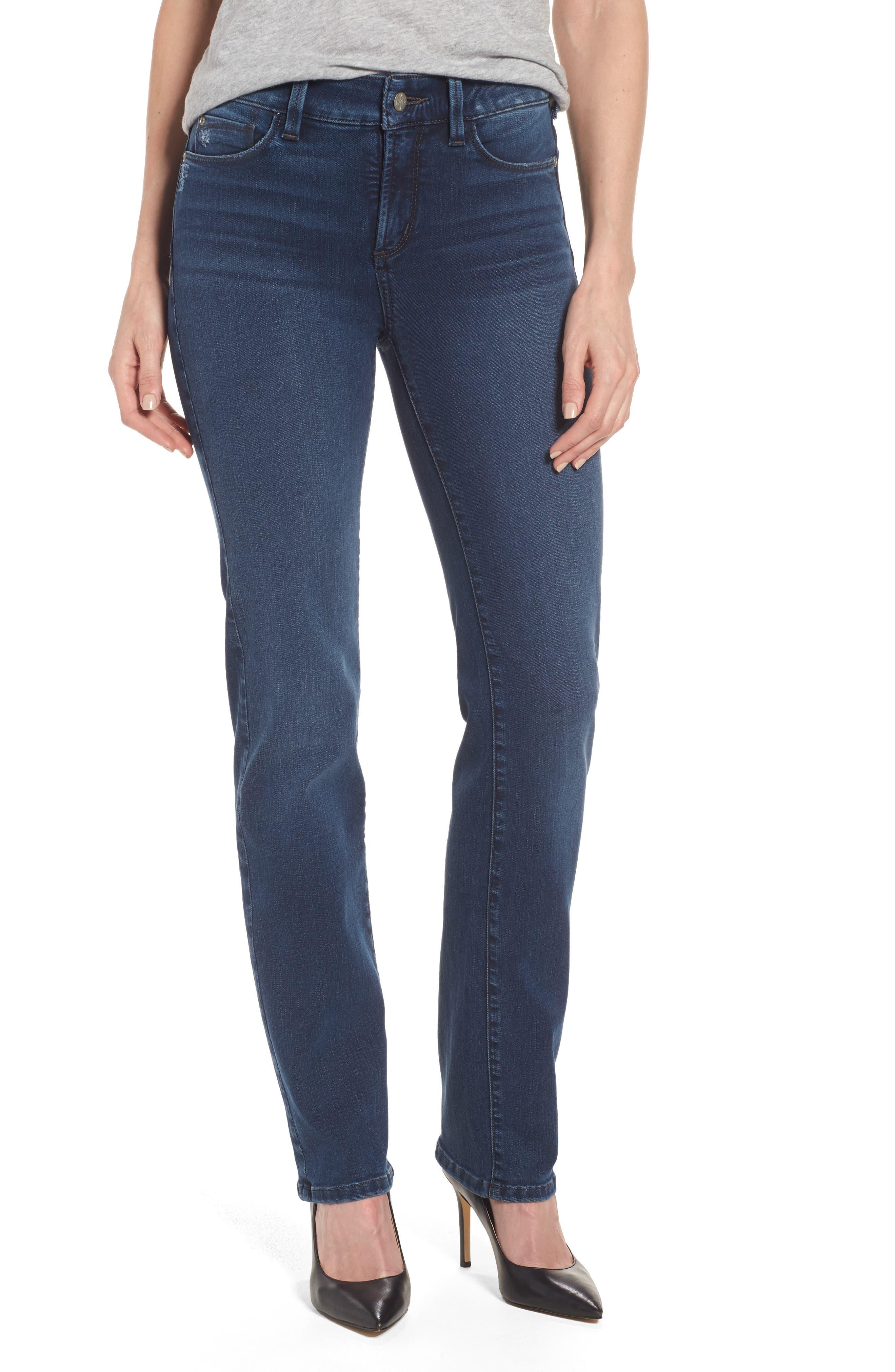 Main Image - NYDJ Marilyn Stretch Straight Leg Jeans (Traveler) (Regular & Petite)
