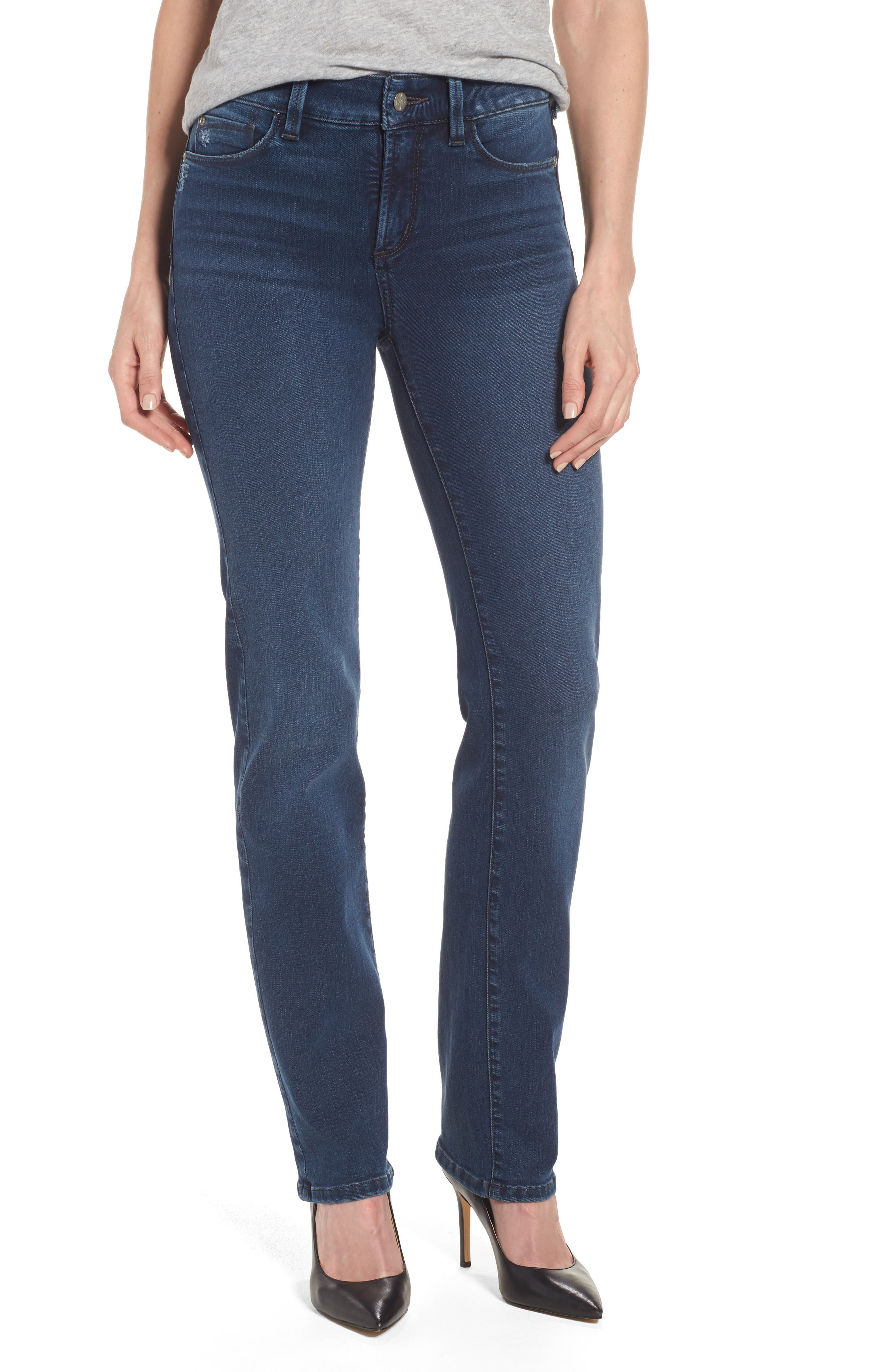 Marilyn Stretch Straight Leg Jeans,                         Main,                         color, Traveler