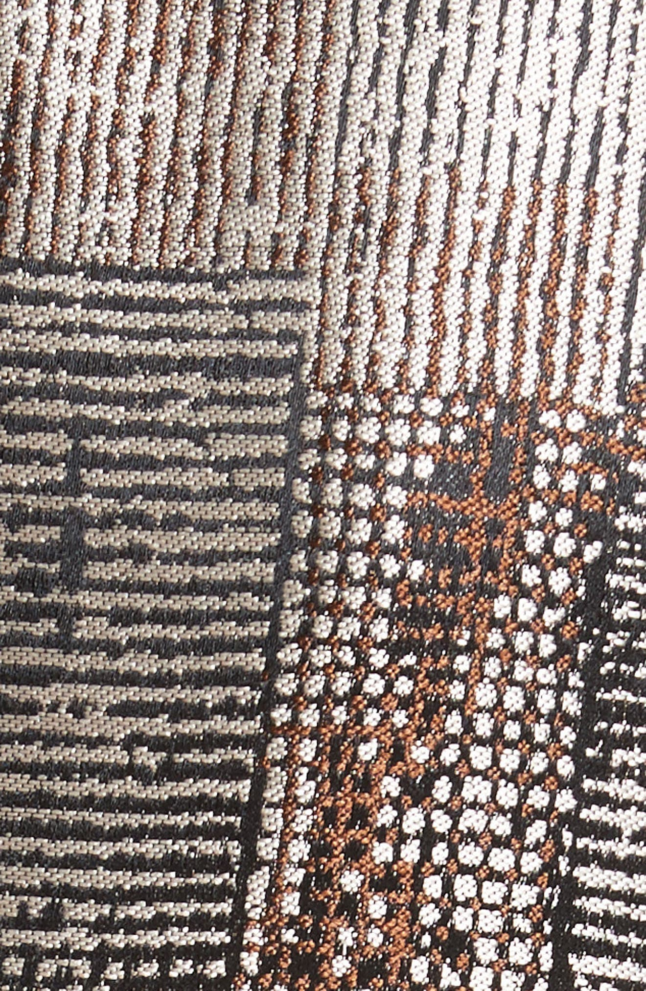 Alternate Image 3  - Armani Collezioni Panel Jacquard Asymmetrical Jacket