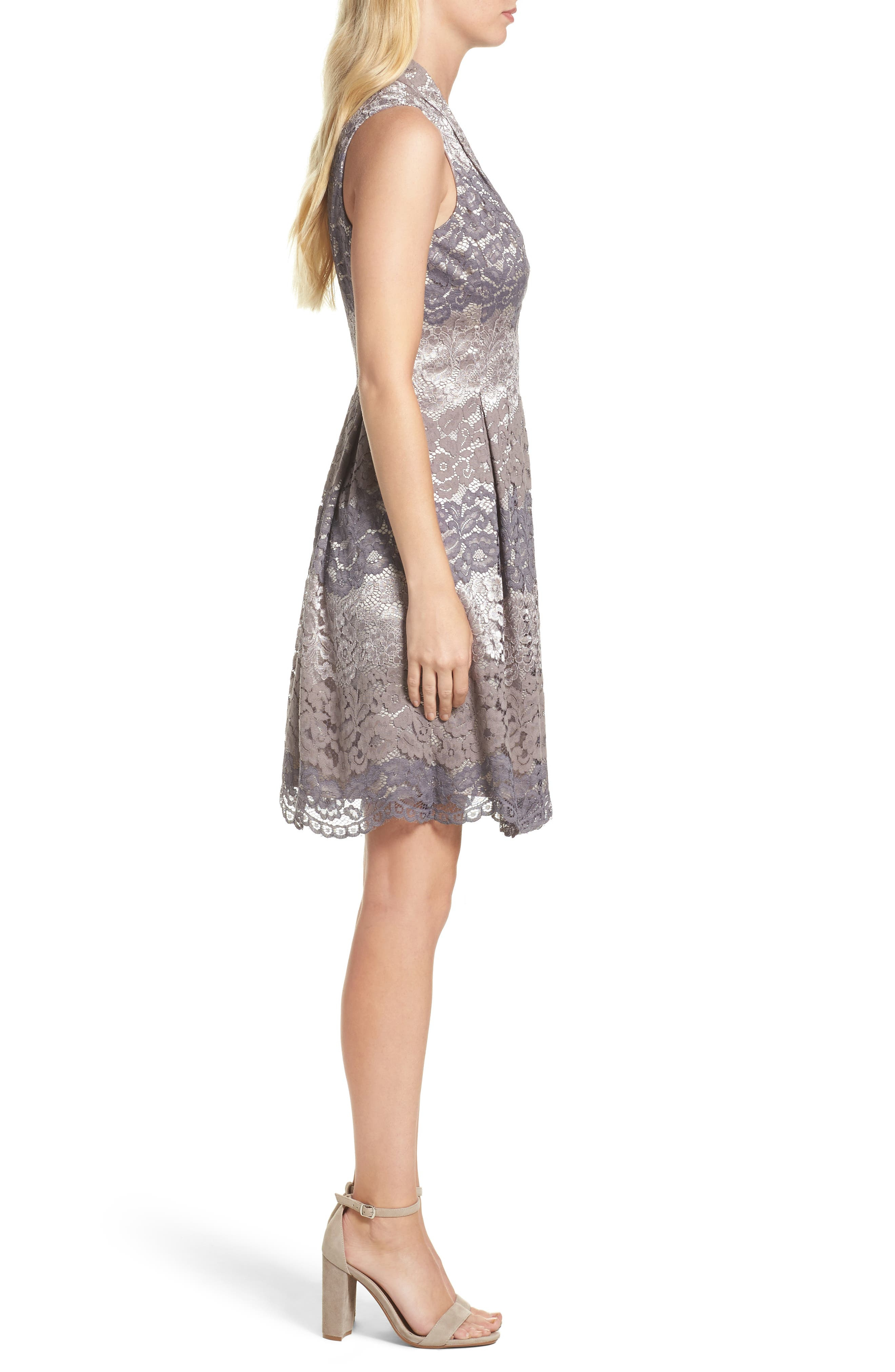 Alternate Image 3  - Vince Camuto Lace Fit & Flare Dress (Regular & Petite)