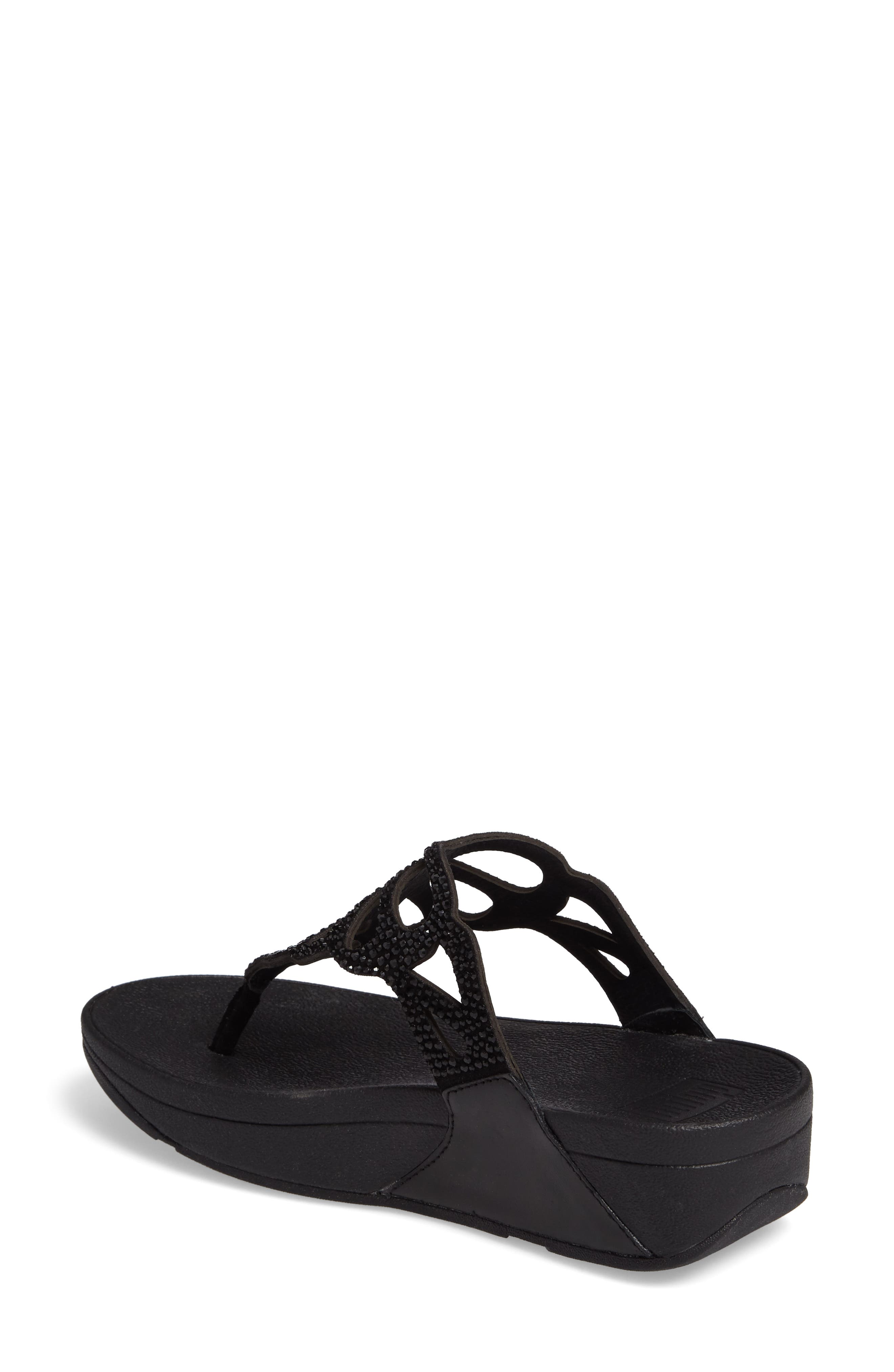 Alternate Image 2  - FitFlop Bumble Crystal Flip Flop (Women)