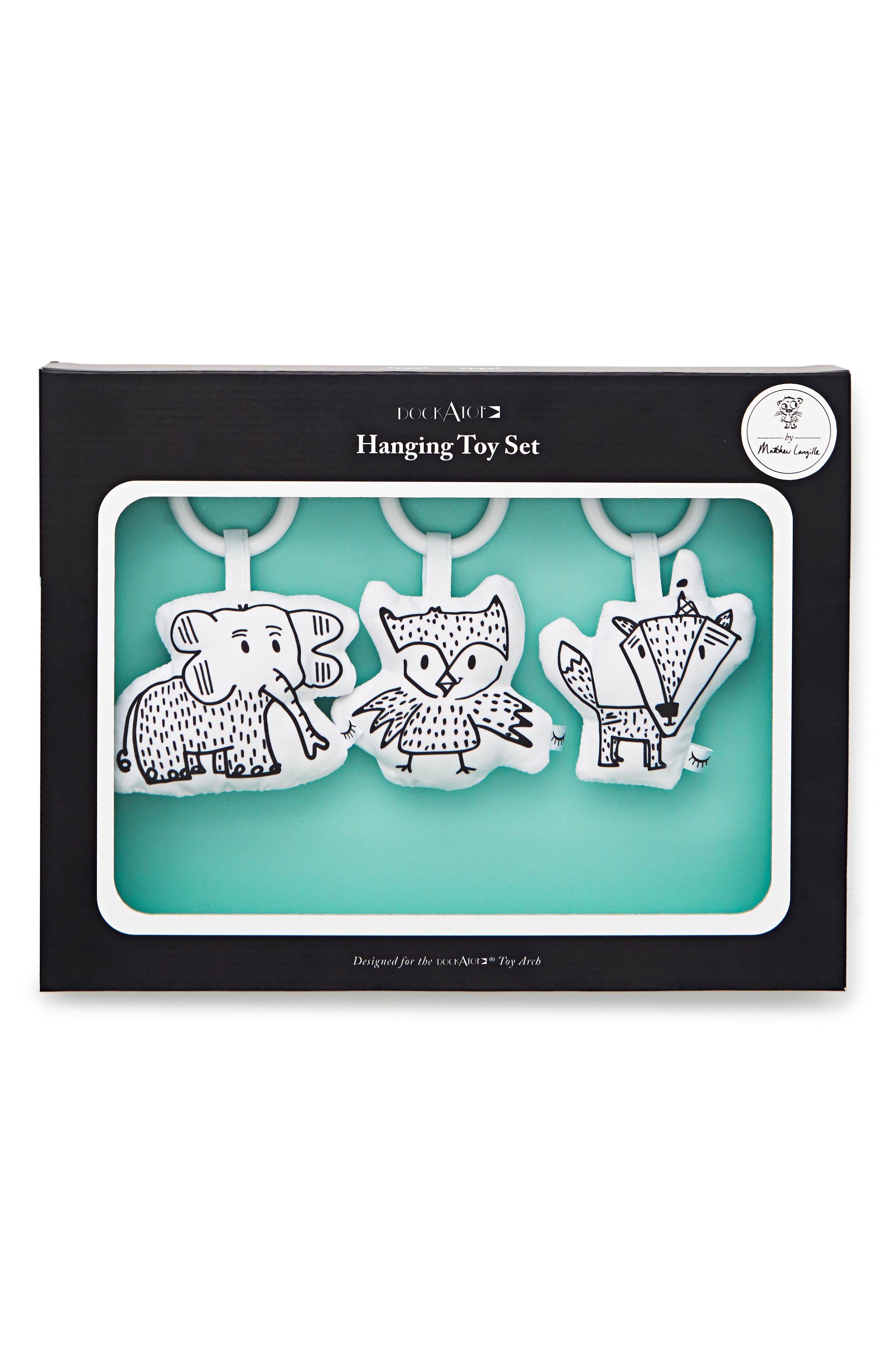 3-Piece Hanging Toy Set,                             Alternate thumbnail 3, color,                             Black/ White