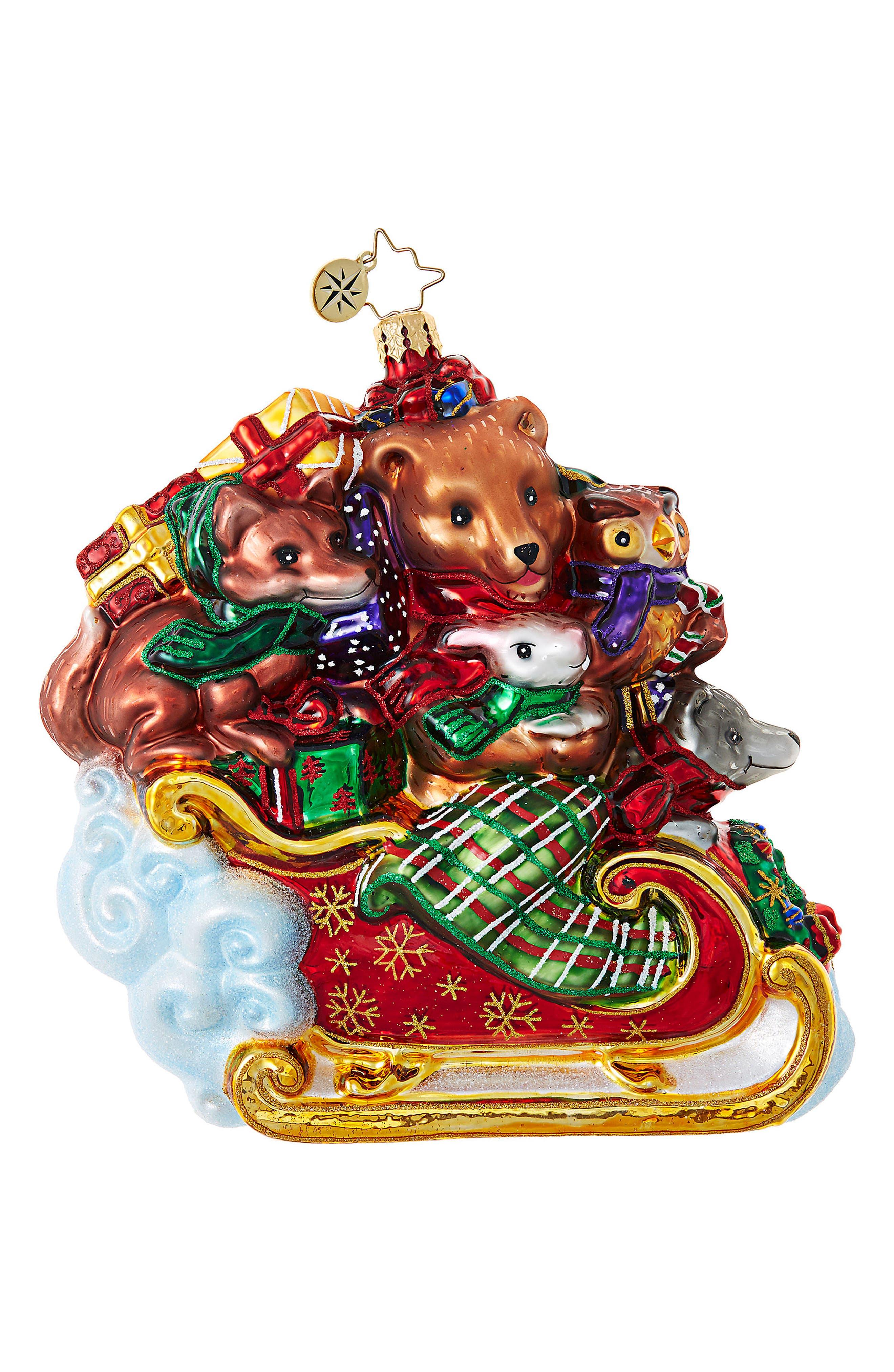 Christopher Radko Forest Flyer Glass Ornament