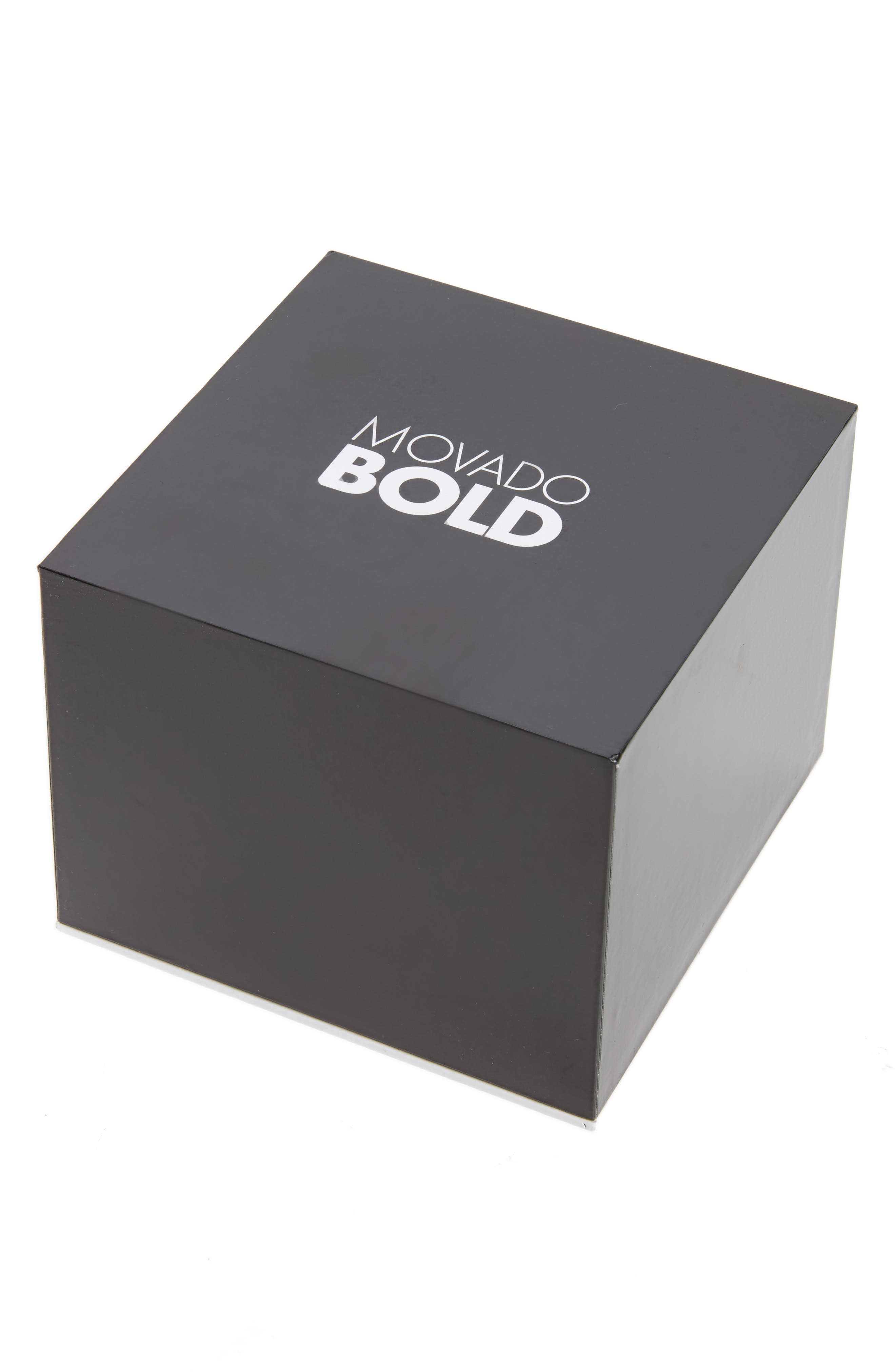 Bold Two-Tone Bracelet Watch, 38mm,                             Alternate thumbnail 4, color,                             Silver/ Rose Gold