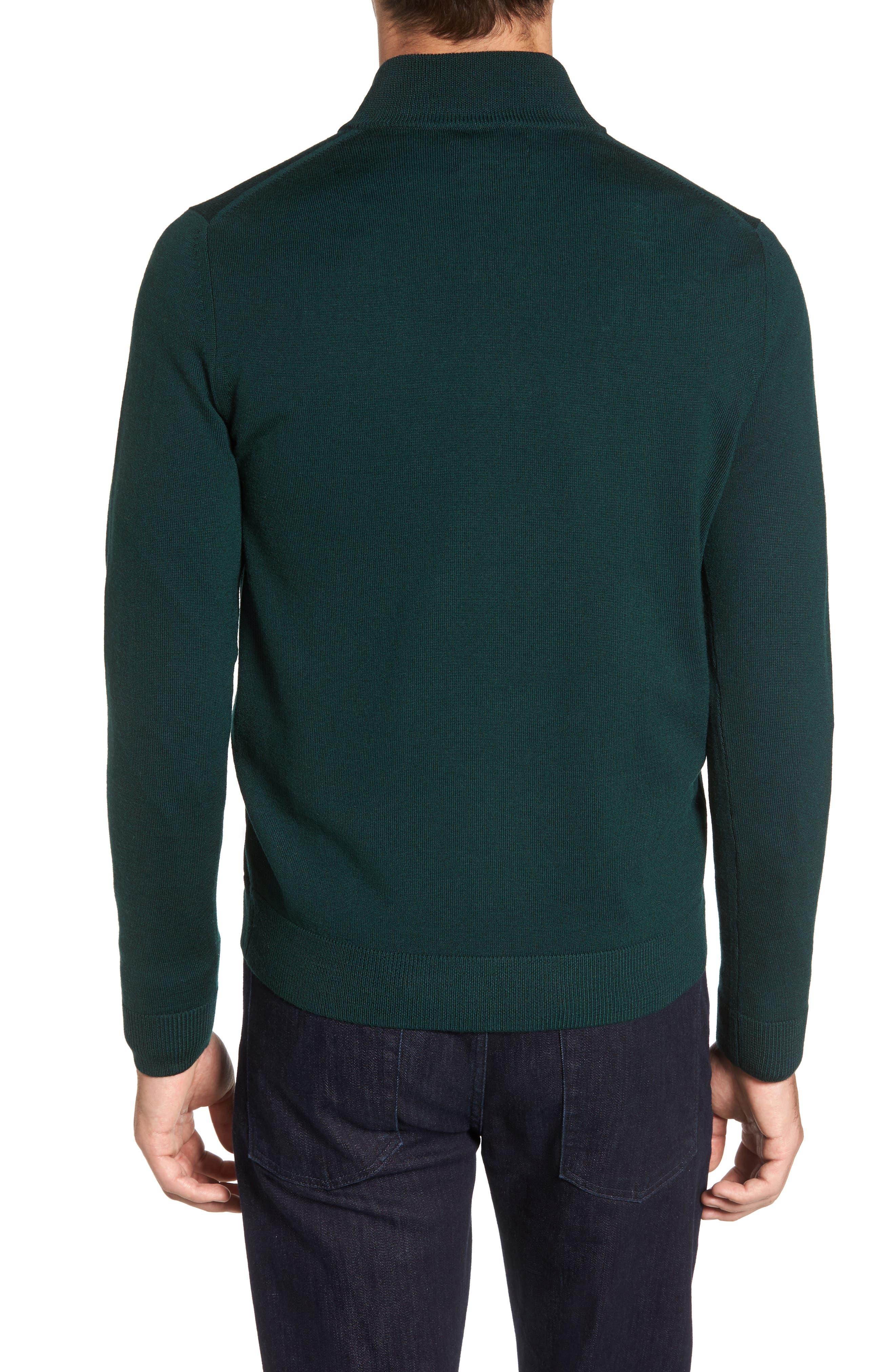 Alternate Image 2  - Nordstrom Men's Shop Quarter Zip Wool Pullover