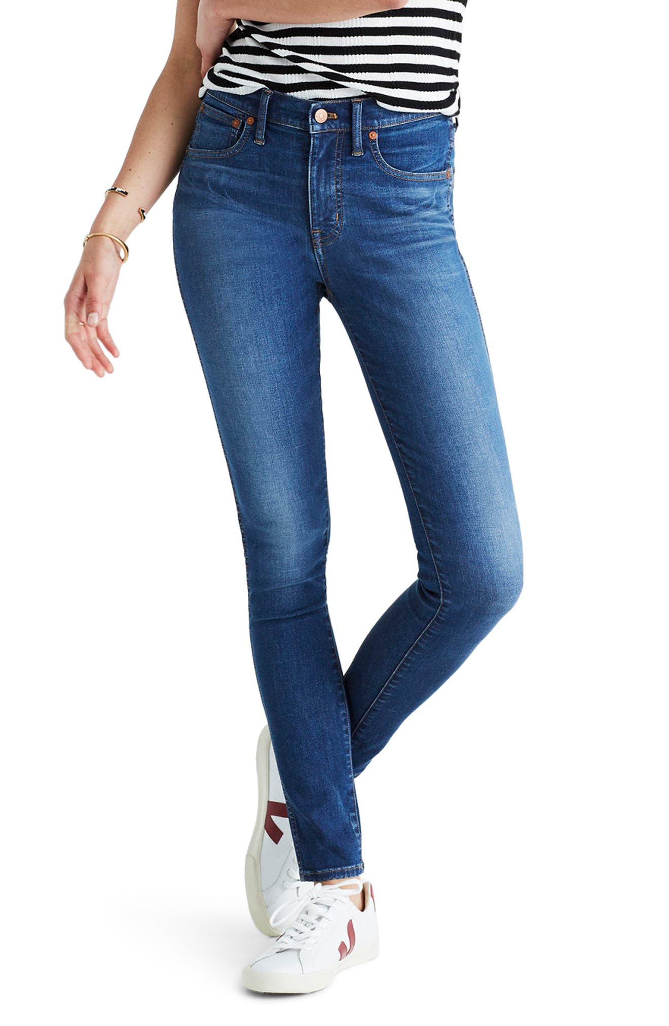 Main Image - Madewell 9-Inch High-Rise Skinny Jeans (Patty Wash)