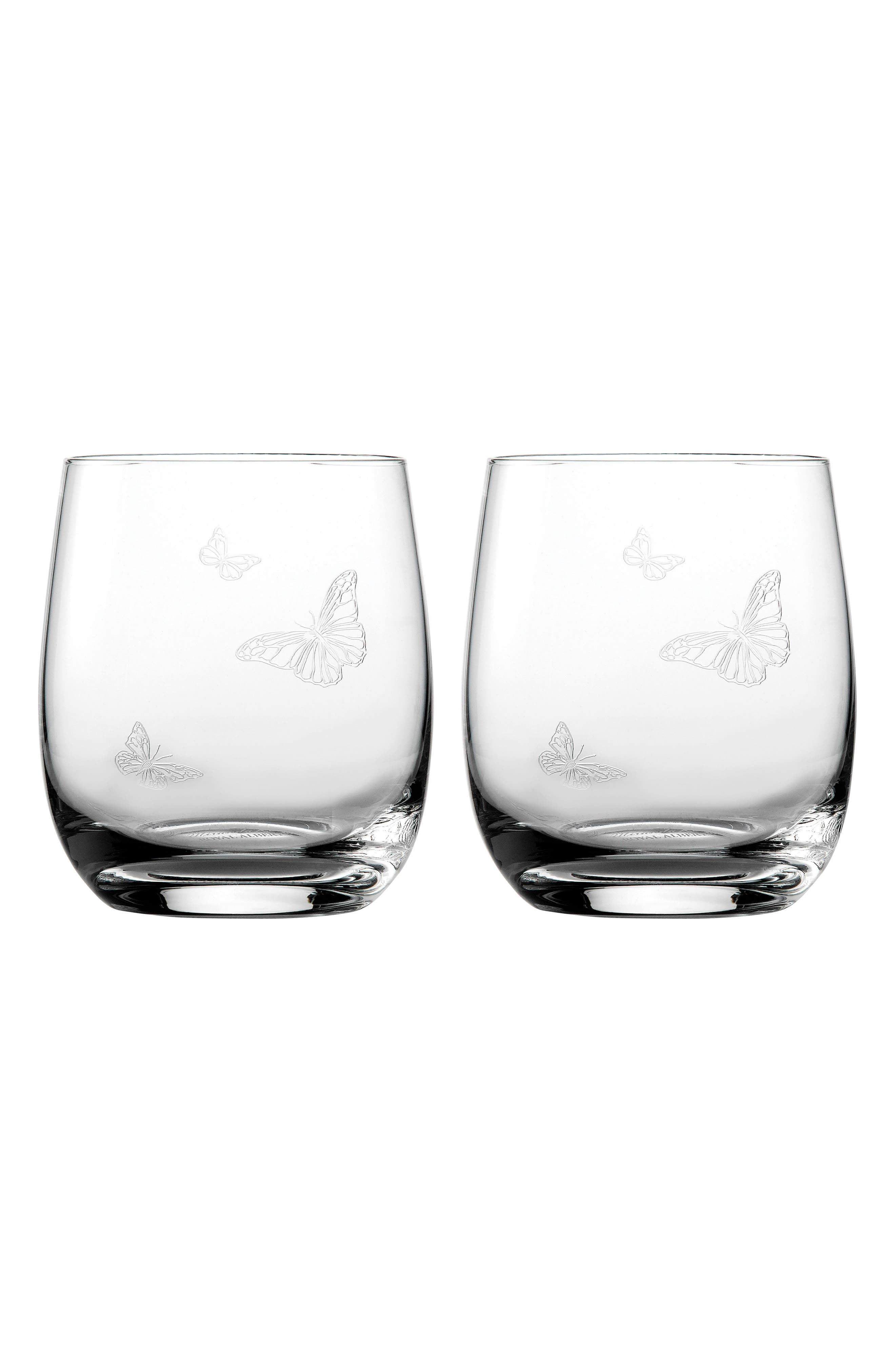 Friendship Set of 2 Tumblers,                             Main thumbnail 1, color,                             Clear