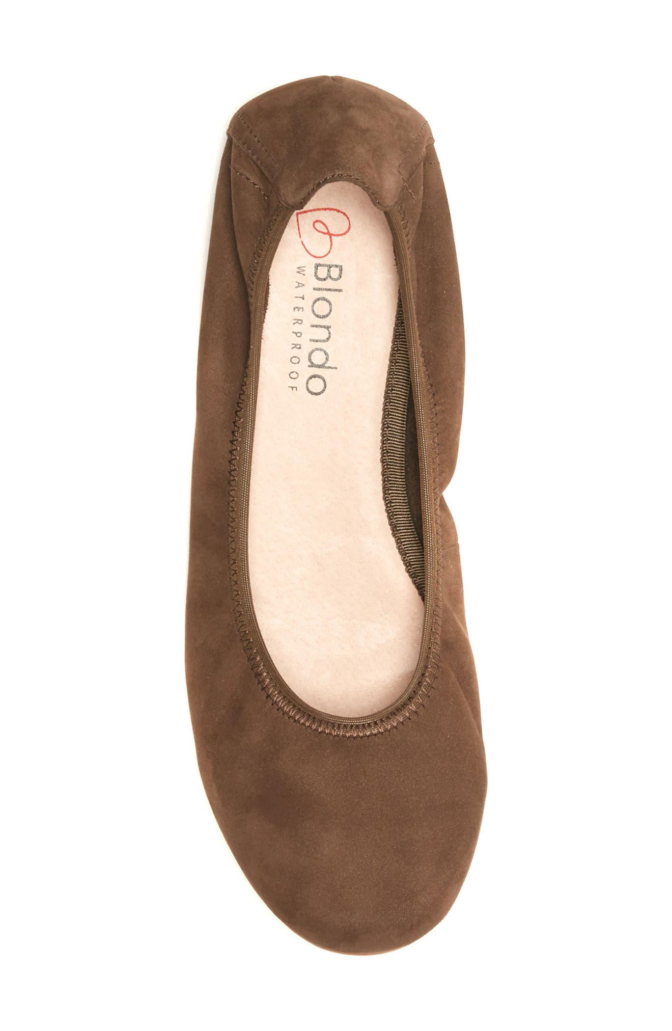 Becca Waterproof Flat,                             Alternate thumbnail 5, color,                             Taupe Nubuck Leather