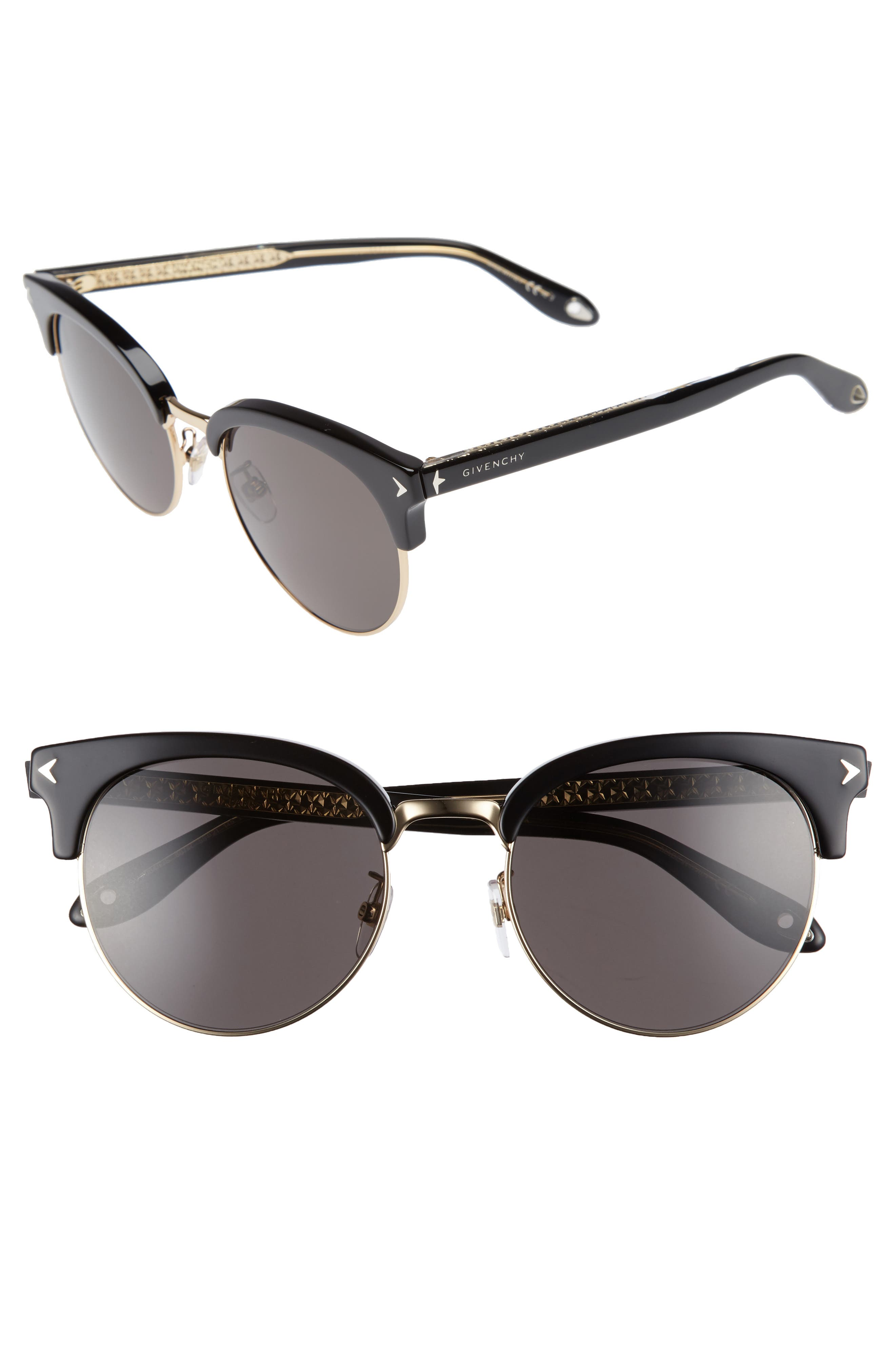 55mm Sunglasses,                         Main,                         color, Black