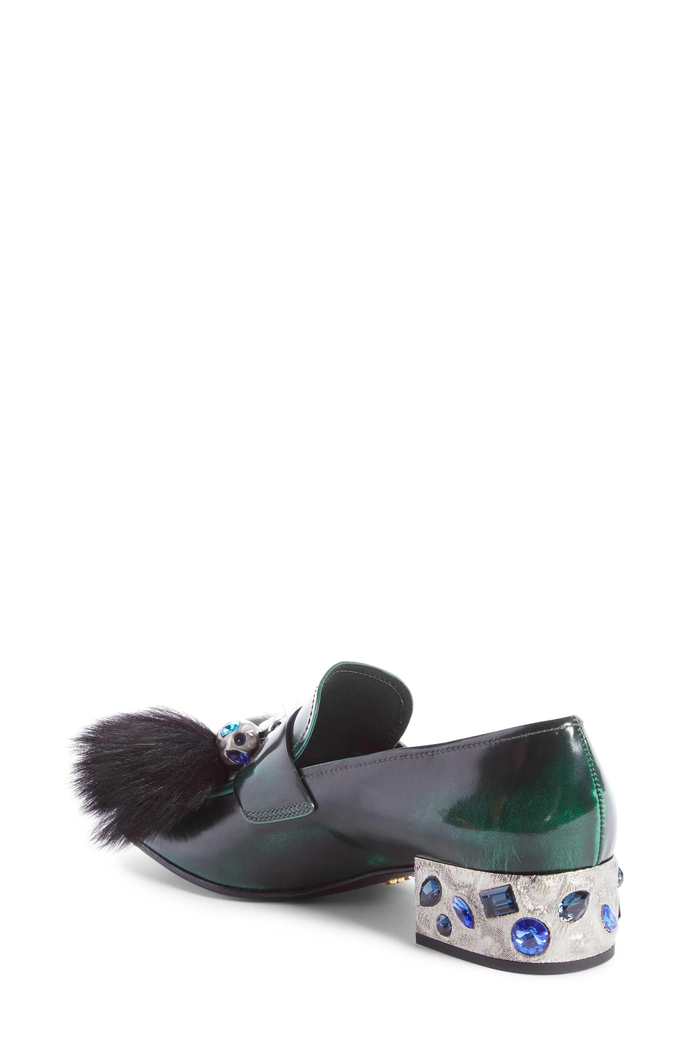 Alternate Image 2  - Prada Genuine Shearling Tassel Loafer (Women)