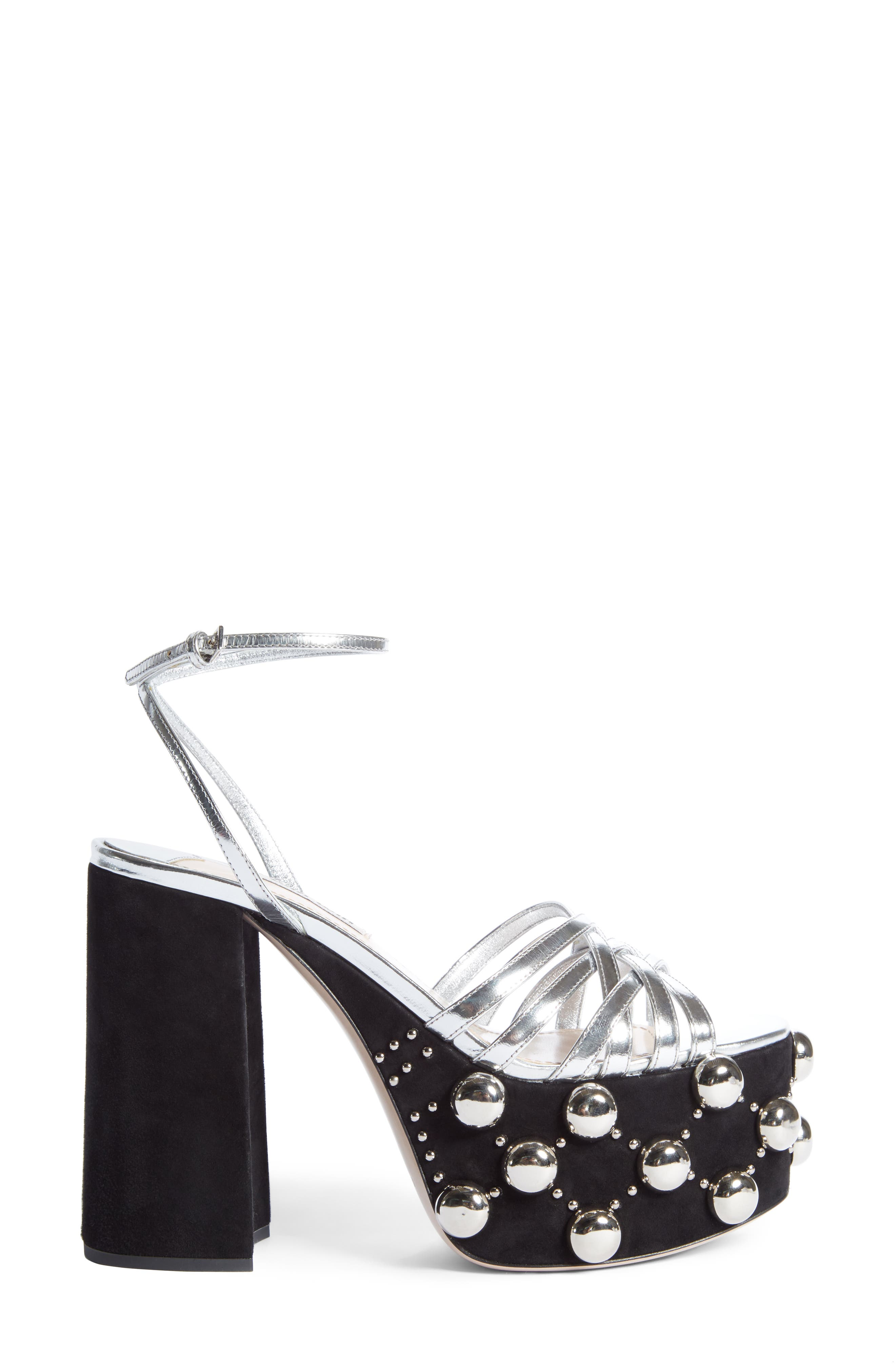 Alternate Image 5  - Miu Miu Studded Platform Sandal (Women)