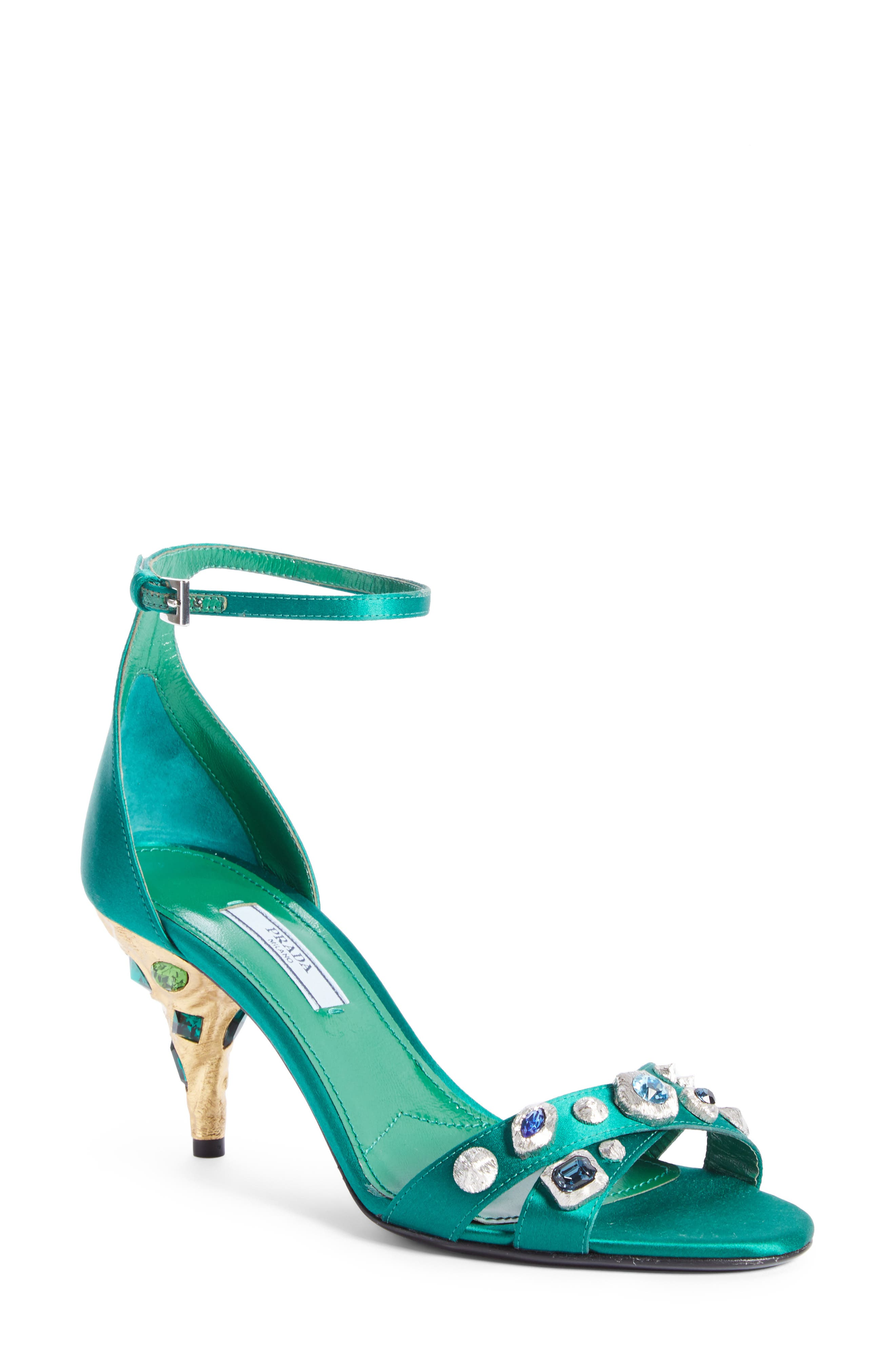 Prada Jewel Ankle Strap Sandal (Women)