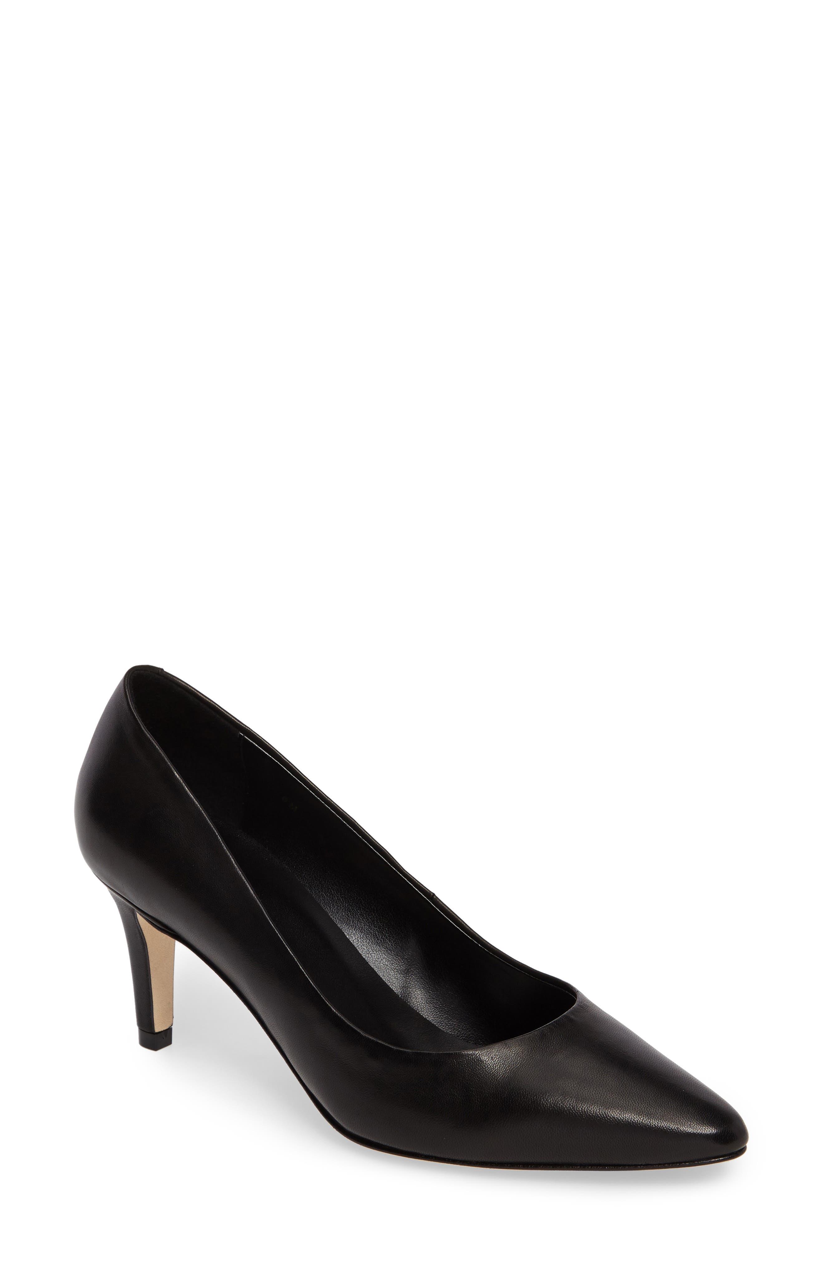 Hattie Pump,                         Main,                         color, Black Leather