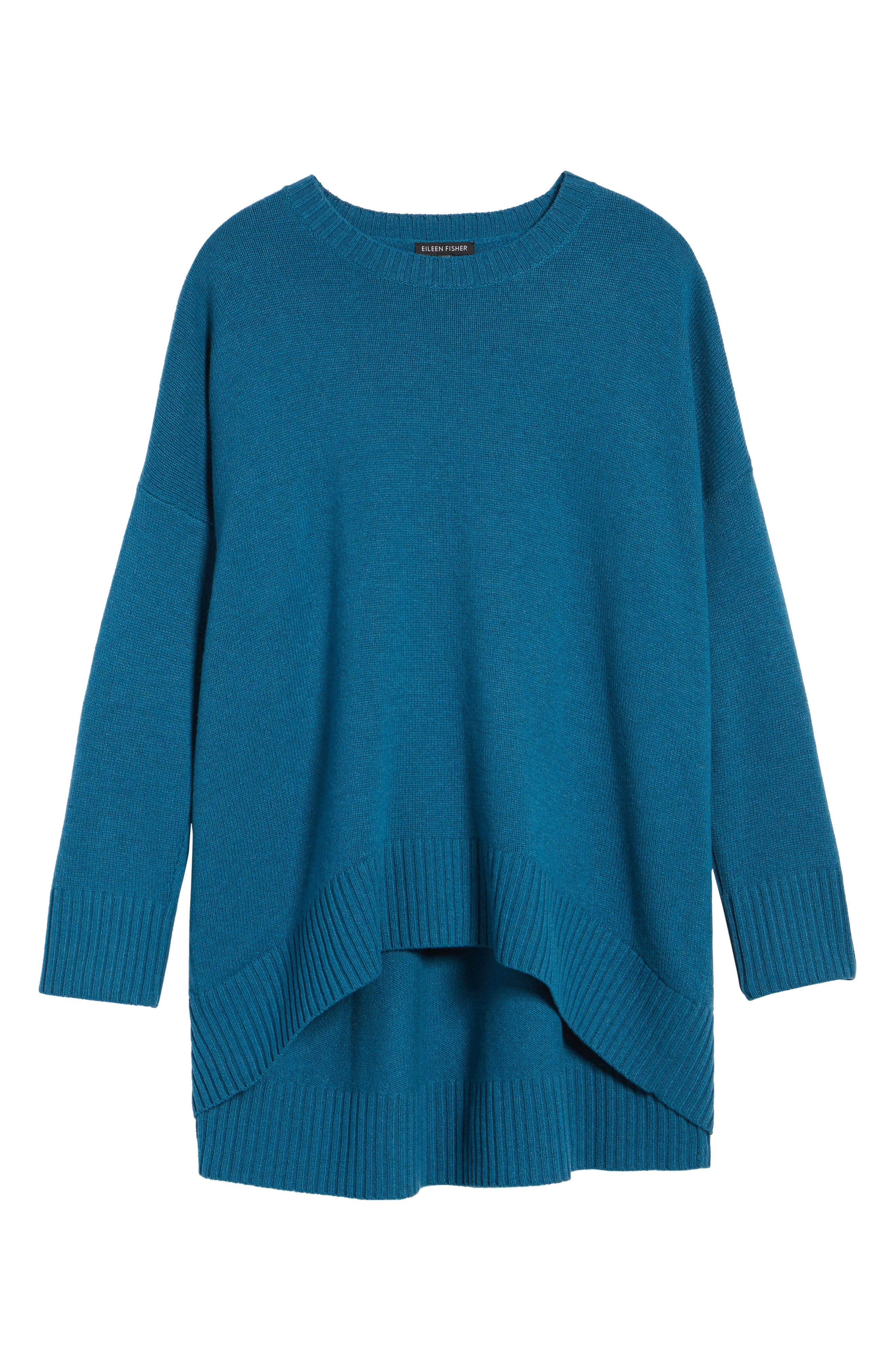 Cashmere & Wool Blend Oversize Sweater,                             Alternate thumbnail 6, color,                             Nile