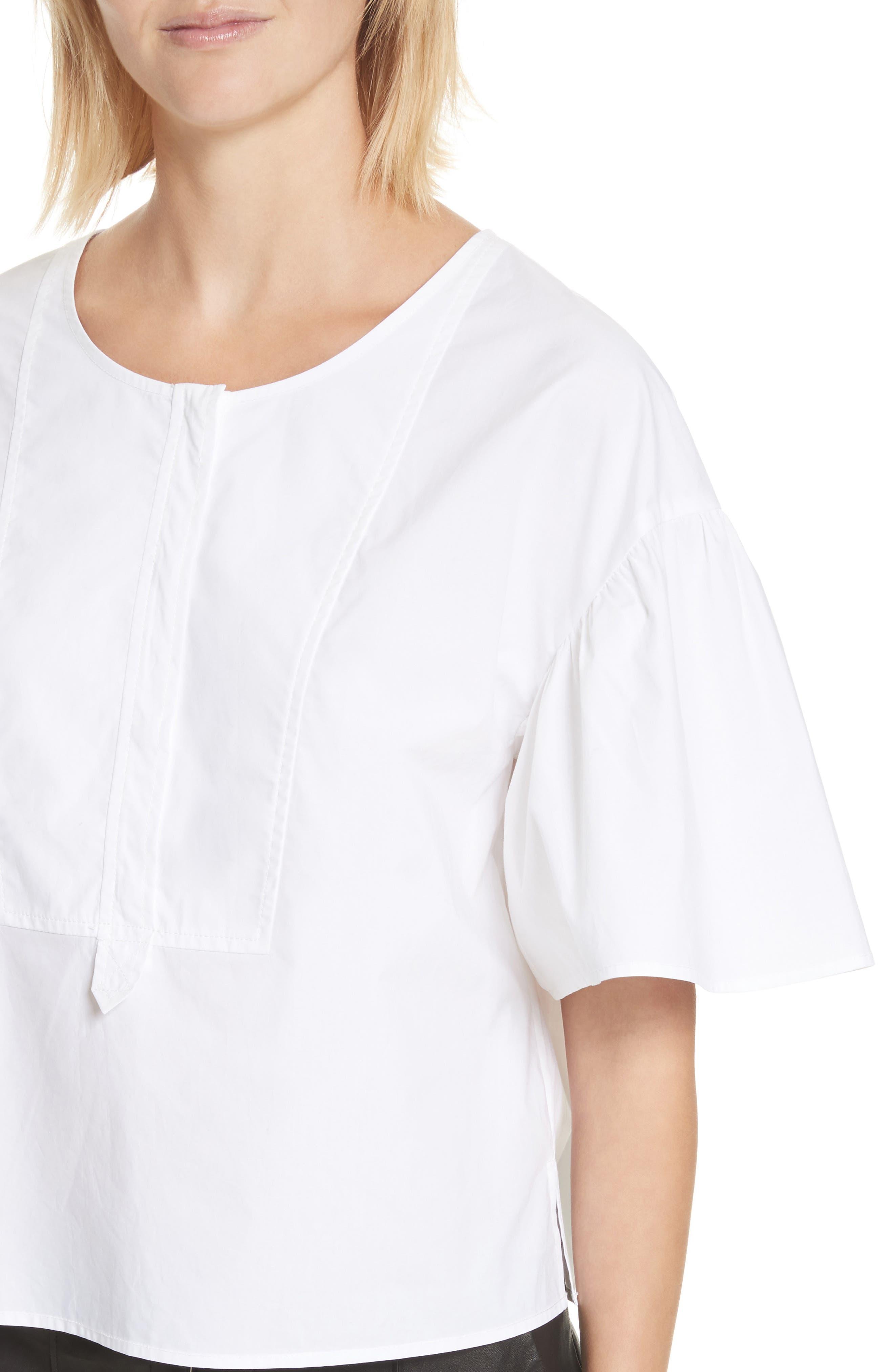 Kyrie Cotton Top,                             Alternate thumbnail 5, color,                             White