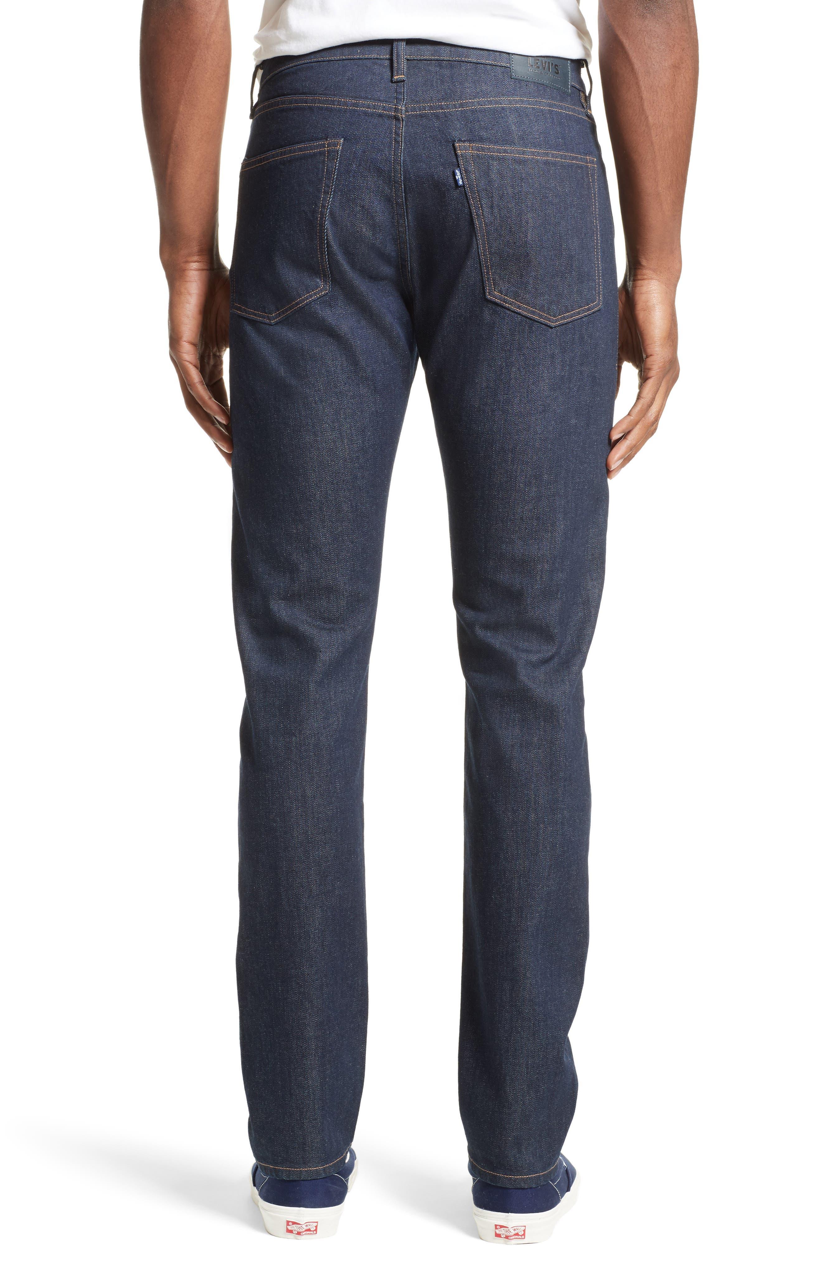 Tack Slim Fit Jeans,                             Alternate thumbnail 2, color,                             Dark Blue