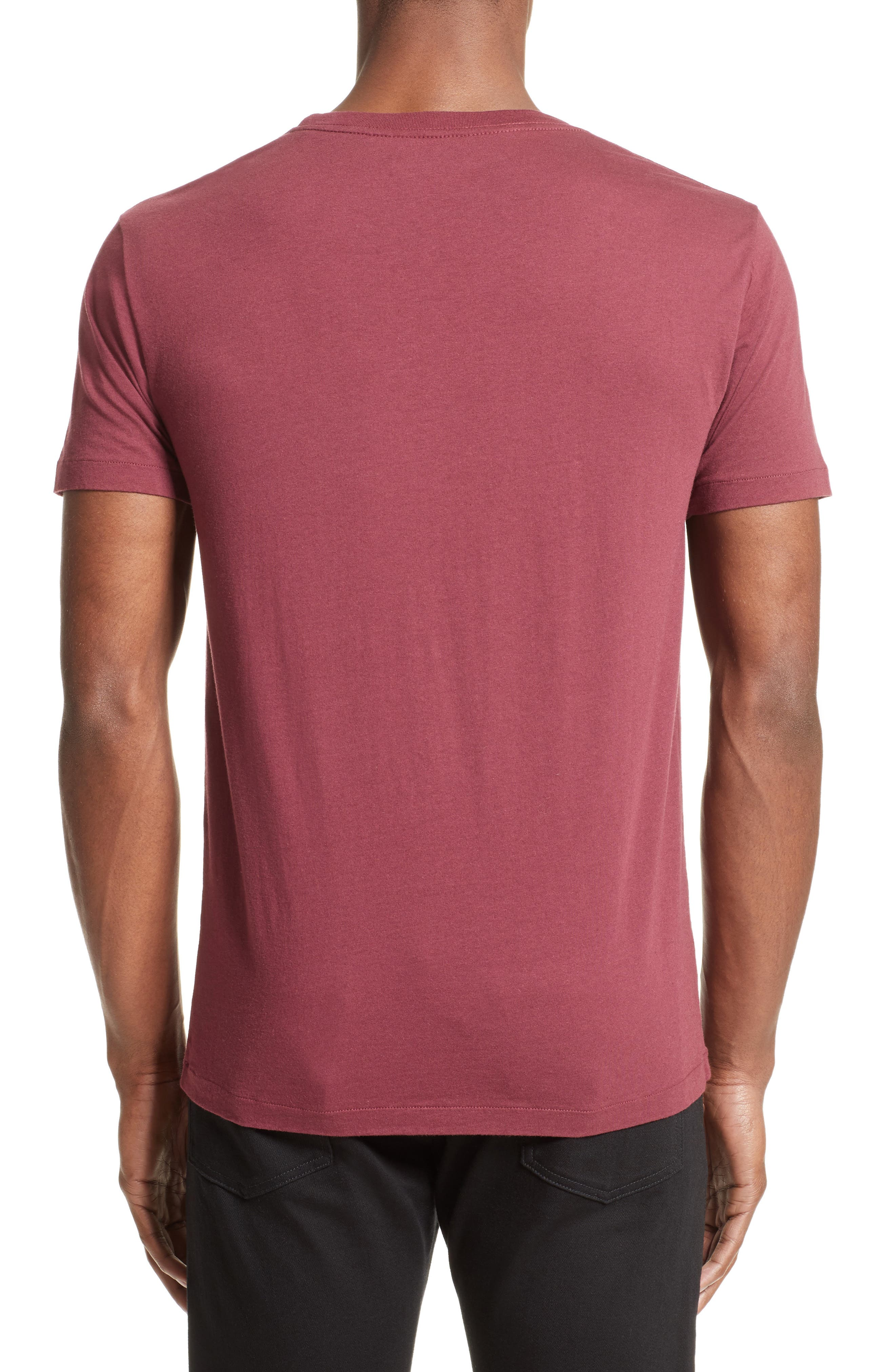 Pocket T-Shirt,                             Alternate thumbnail 2, color,                             Red