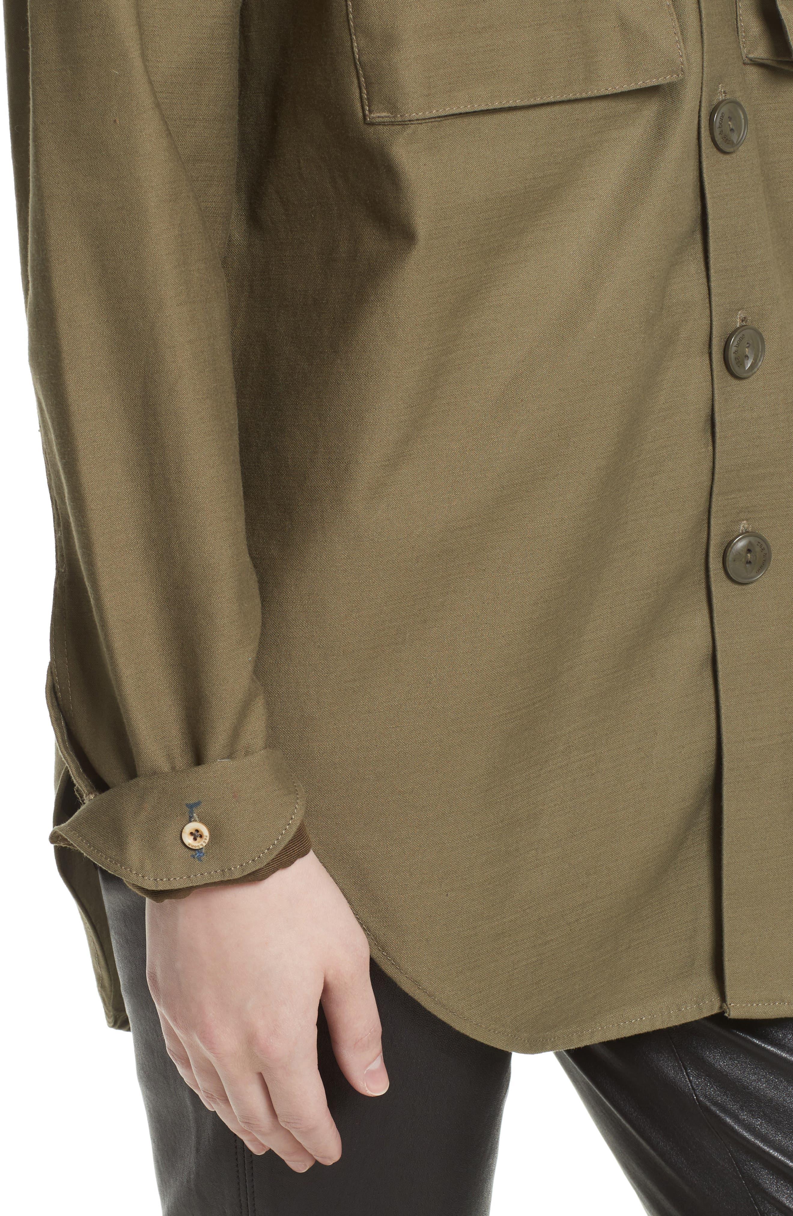 Surplus Shirt Jacket,                             Alternate thumbnail 4, color,                             Olive