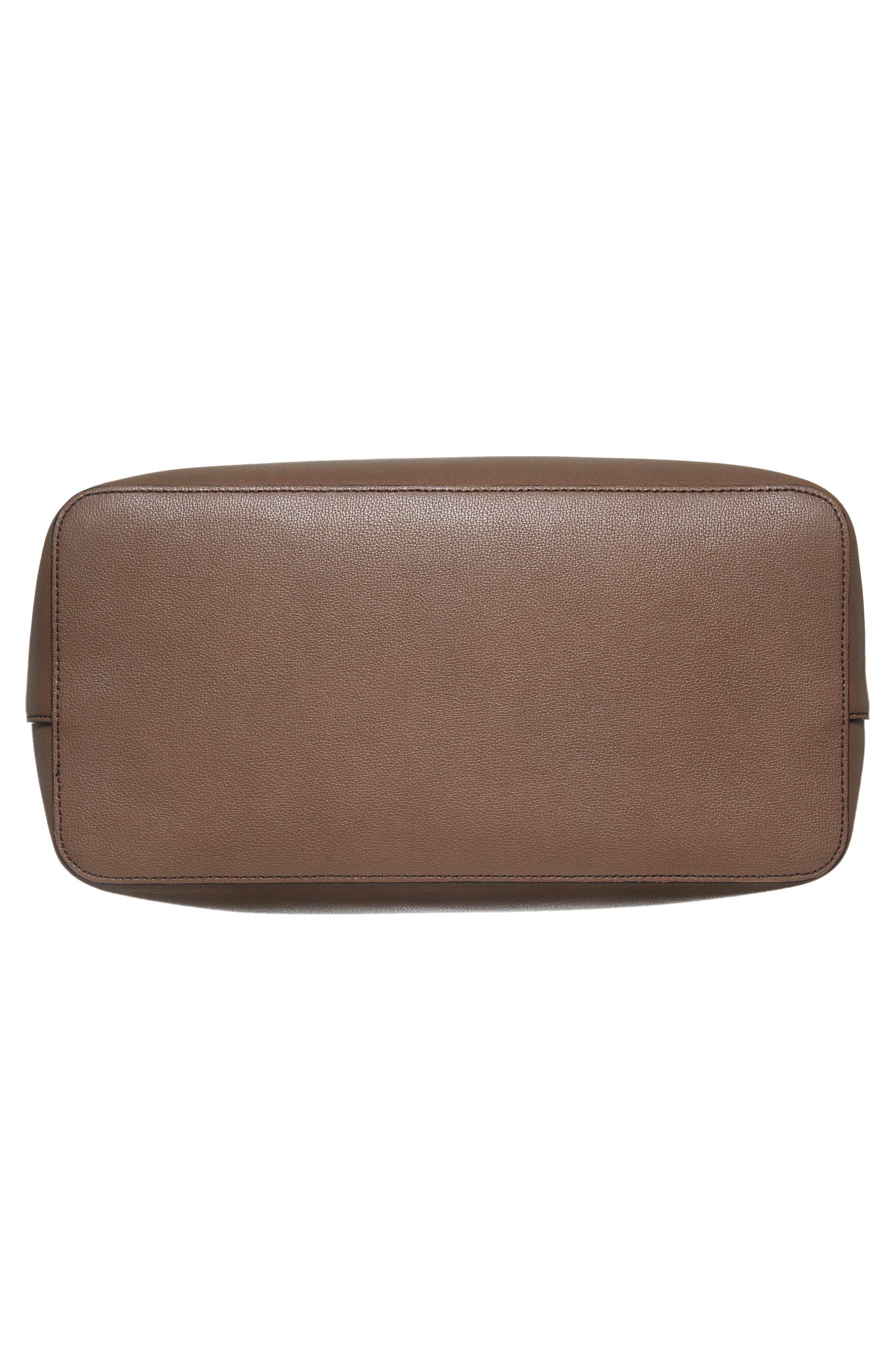 Alternate Image 5  - Max Mara Pebbled Leather Shopper