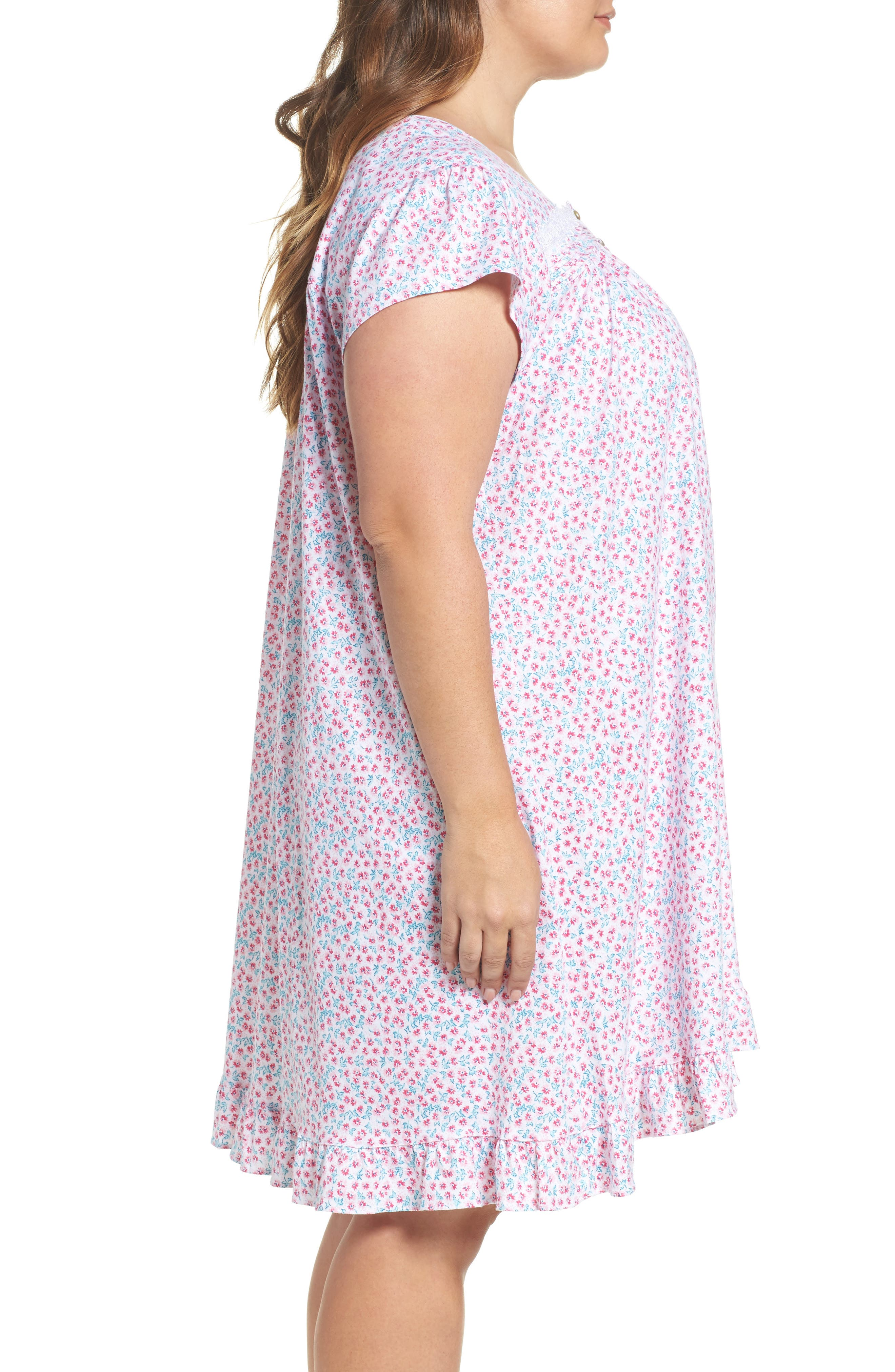 Short Nightgown,                             Alternate thumbnail 3, color,                             Pink