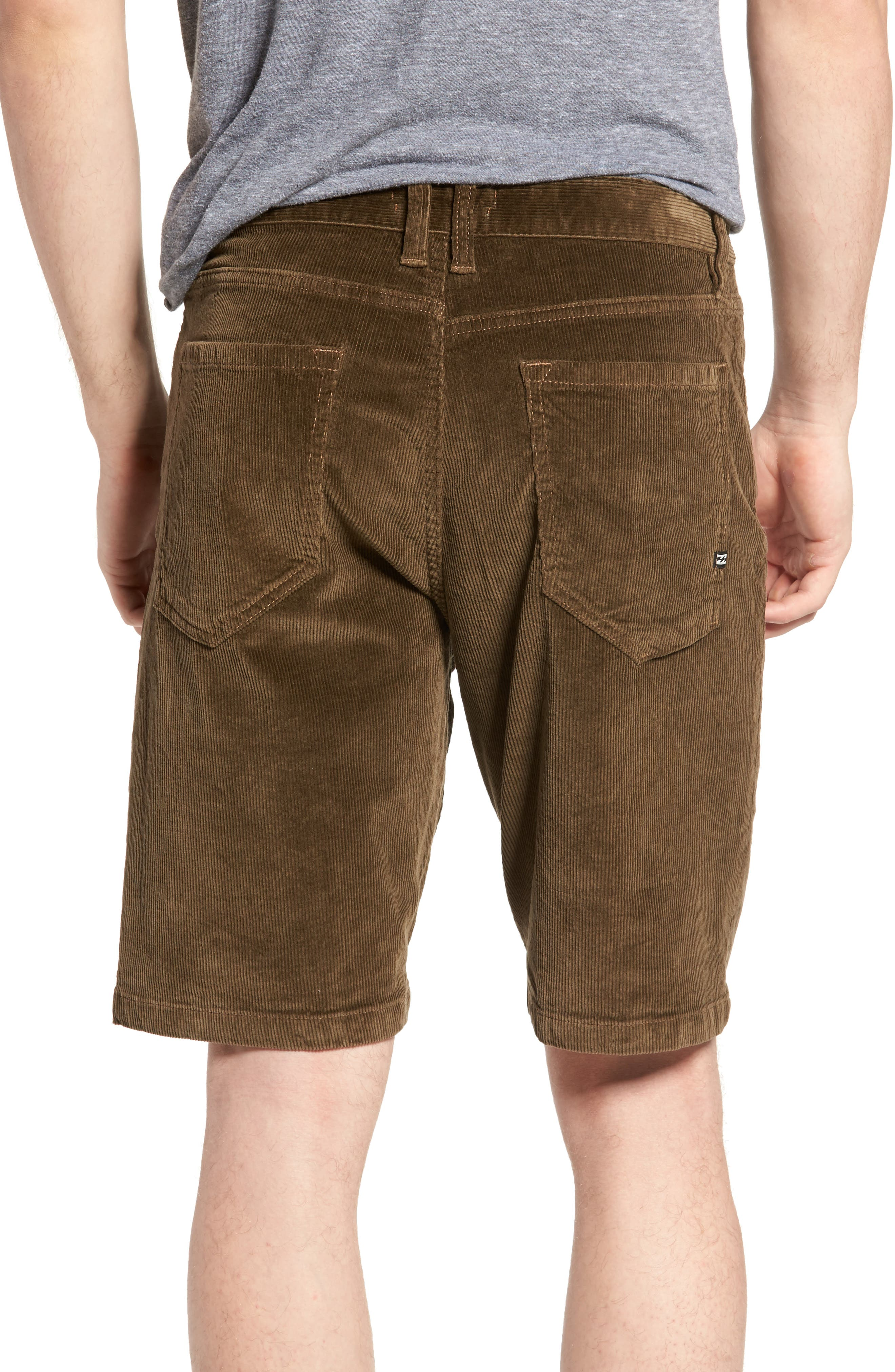 Outsider Corduroy Shorts,                             Alternate thumbnail 2, color,                             Brown