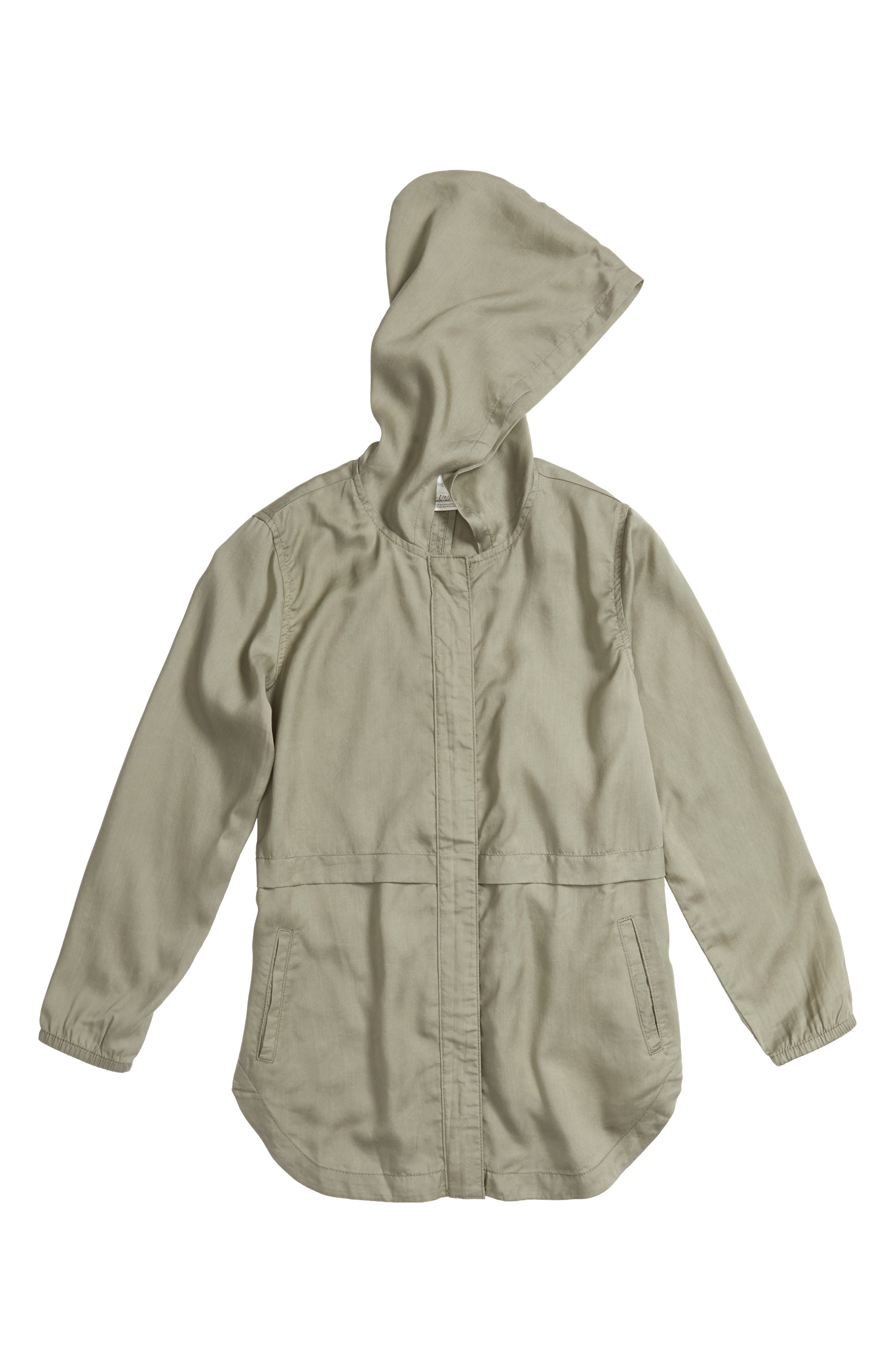 Drapey Hooded Jacket,                         Main,                         color, Green Vetiver