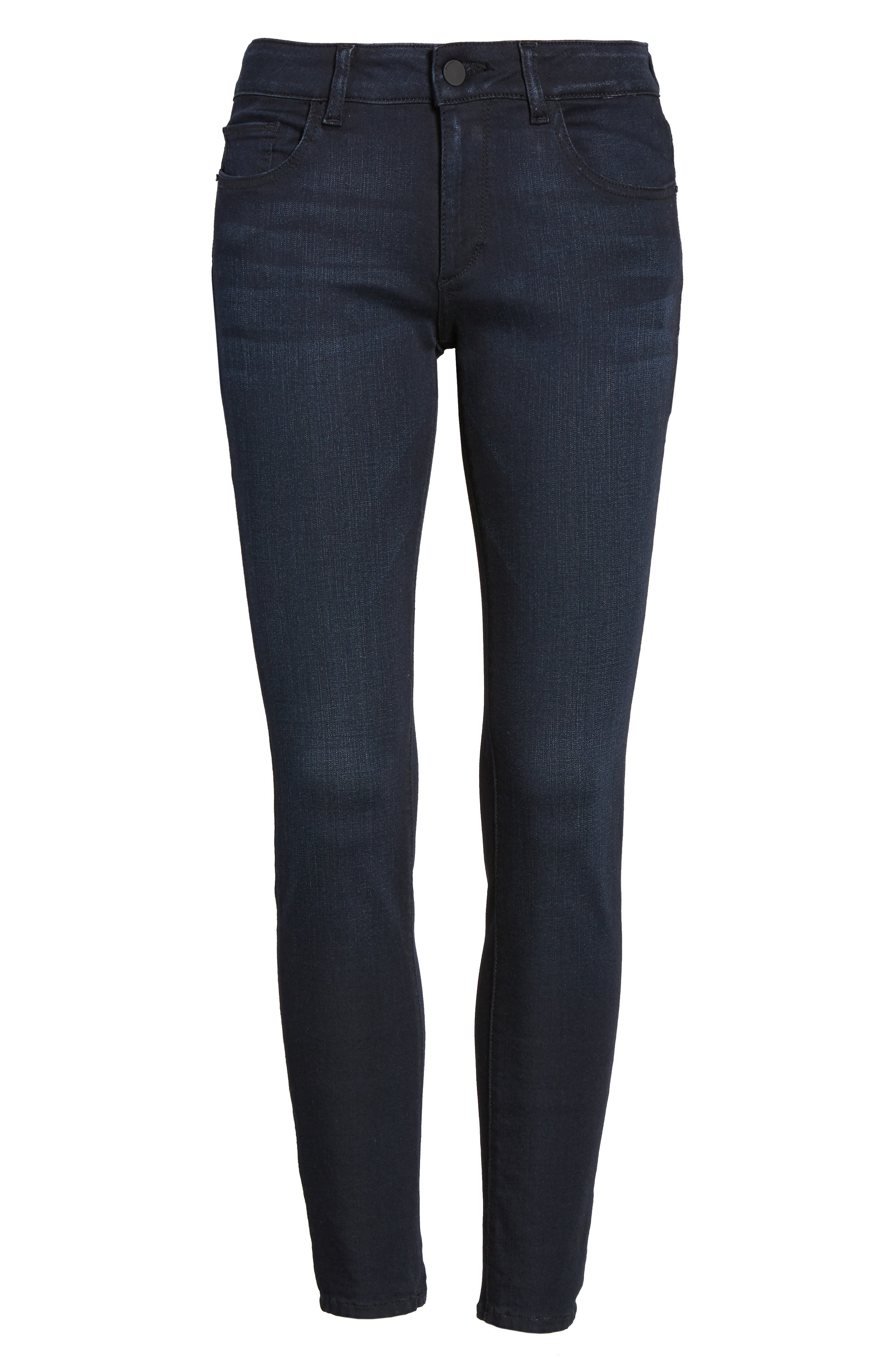 Margaux Ankle Skinny Jeans,                             Alternate thumbnail 7, color,                             Bentley