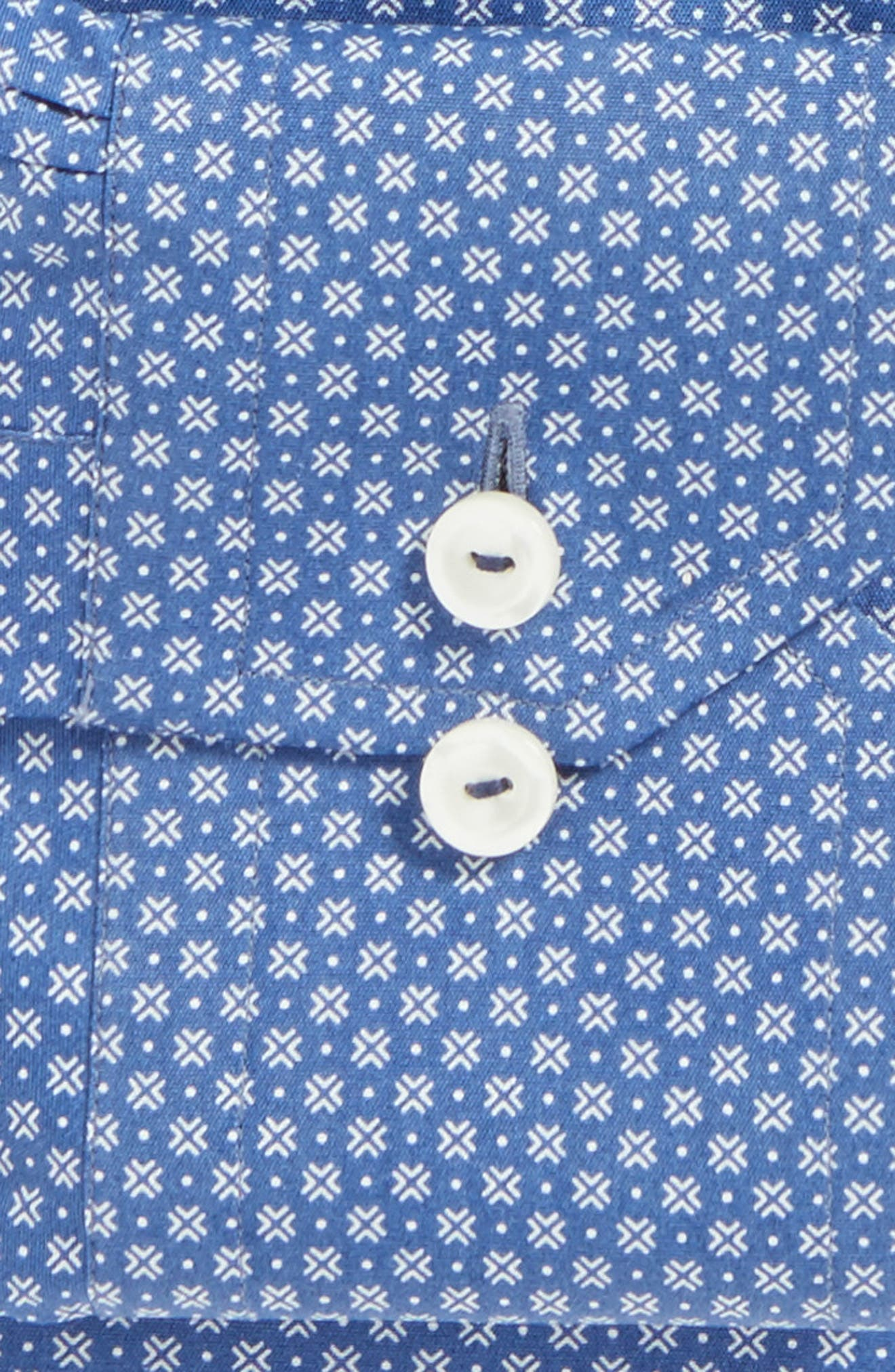 Alternate Image 4  - Eton Contemporary Fit Geometric Dress Shirt