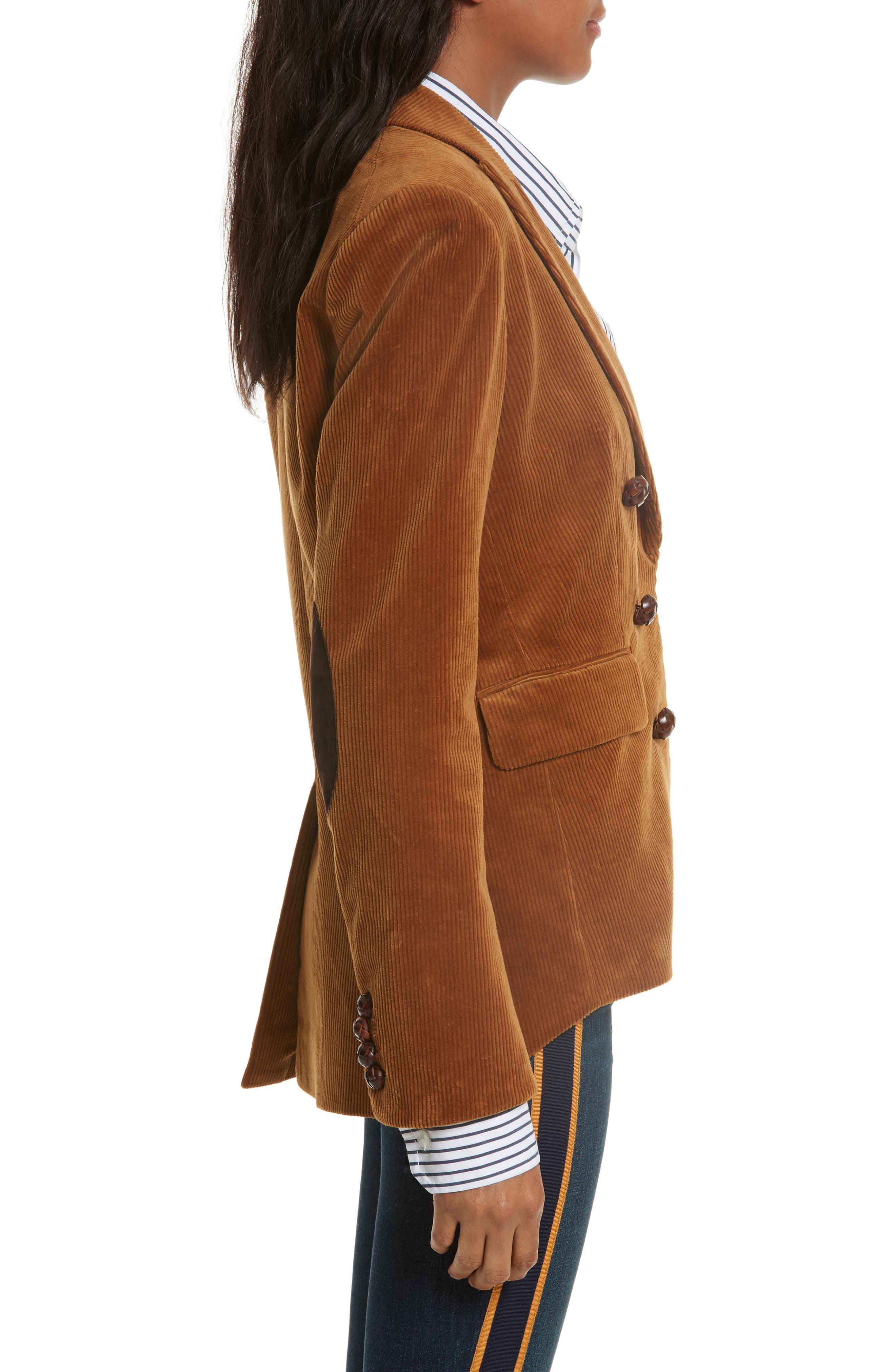 Alternate Image 4  - Veronica Beard Cliff Corduroy Cutaway Jacket