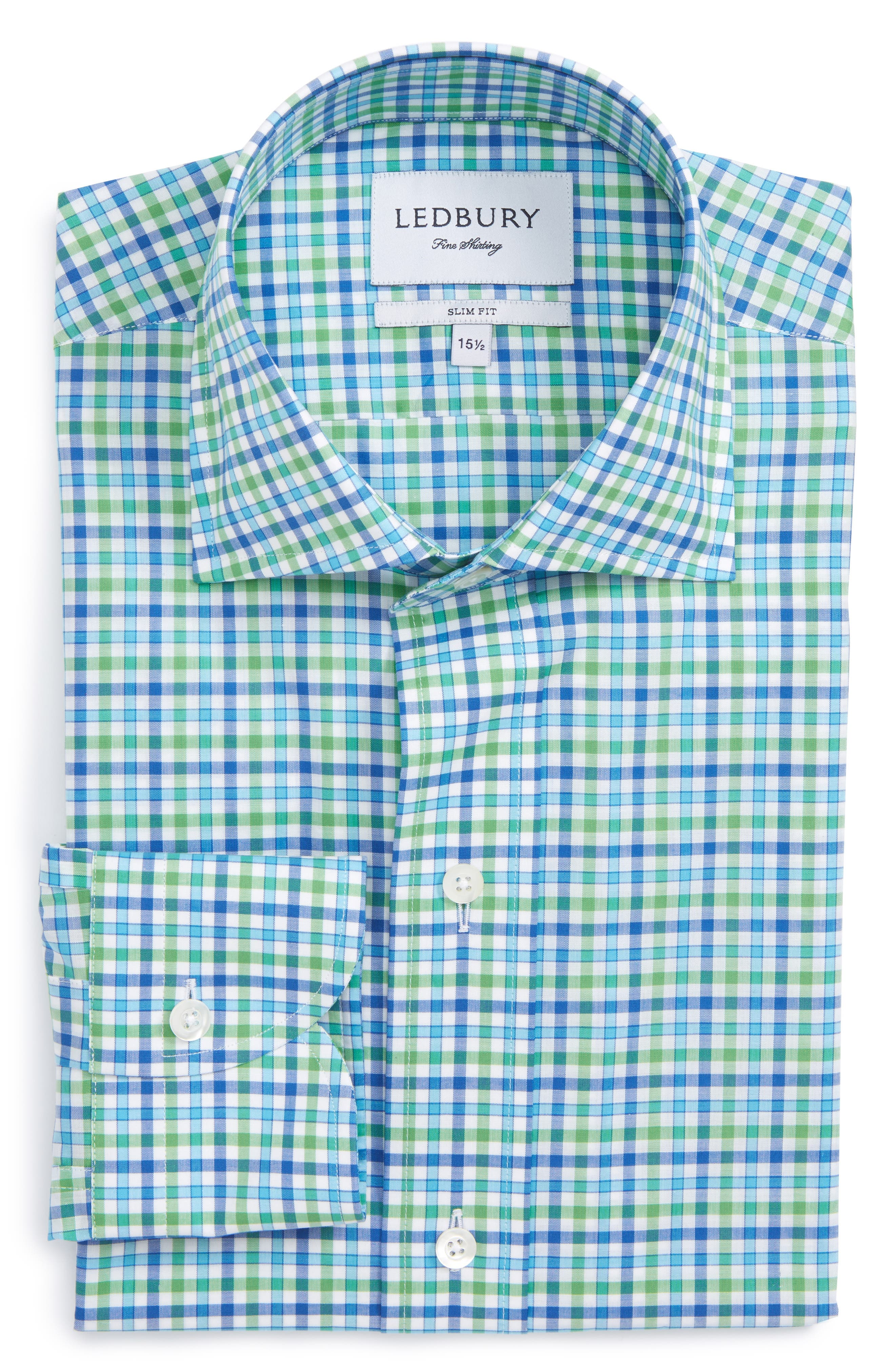 Ledbury The Deloss Slim Fit Check Sport Shirt