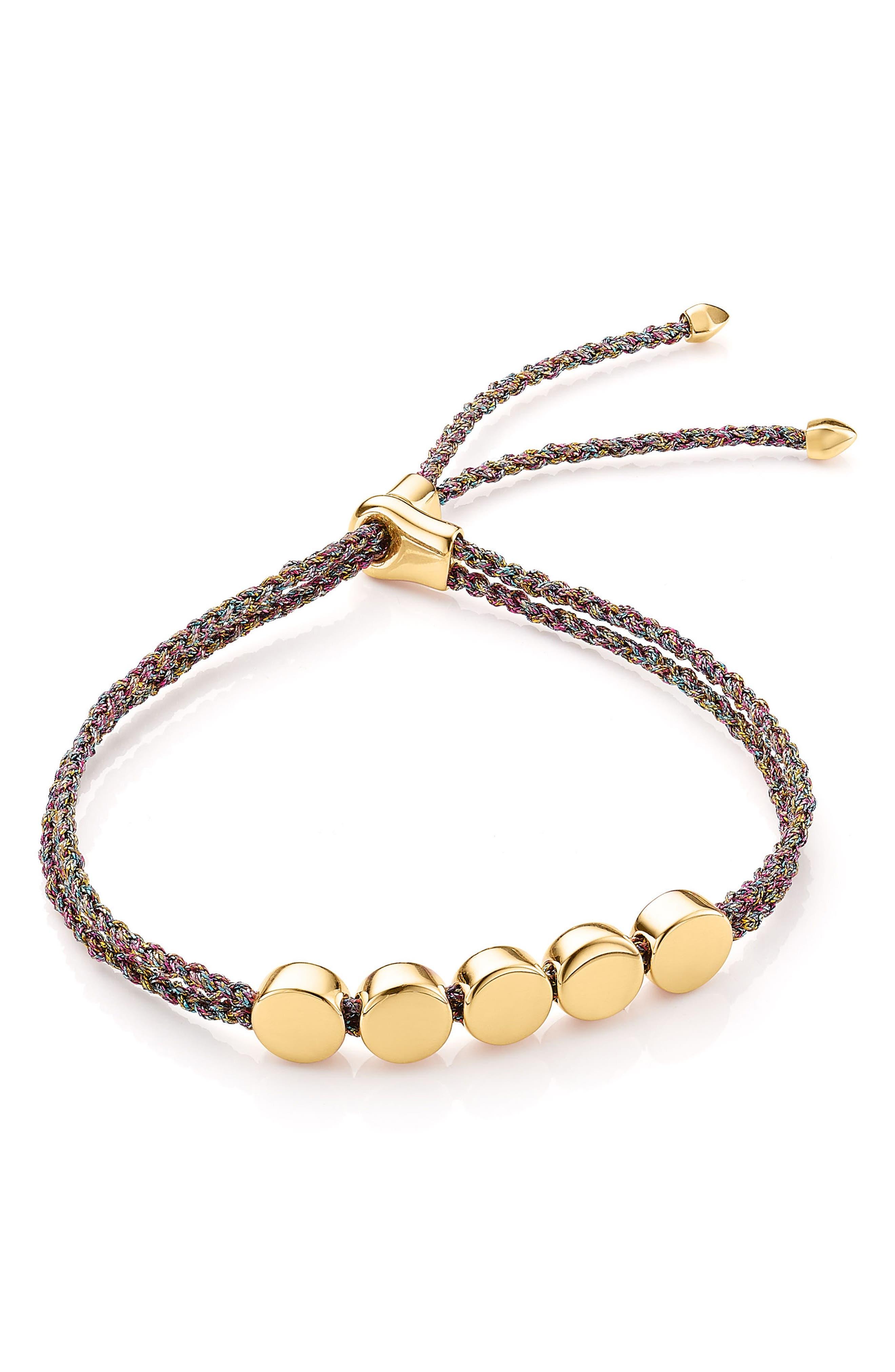 Alternate Image 1 Selected - Monica Vinader Linear Bead Friendship Bracelet