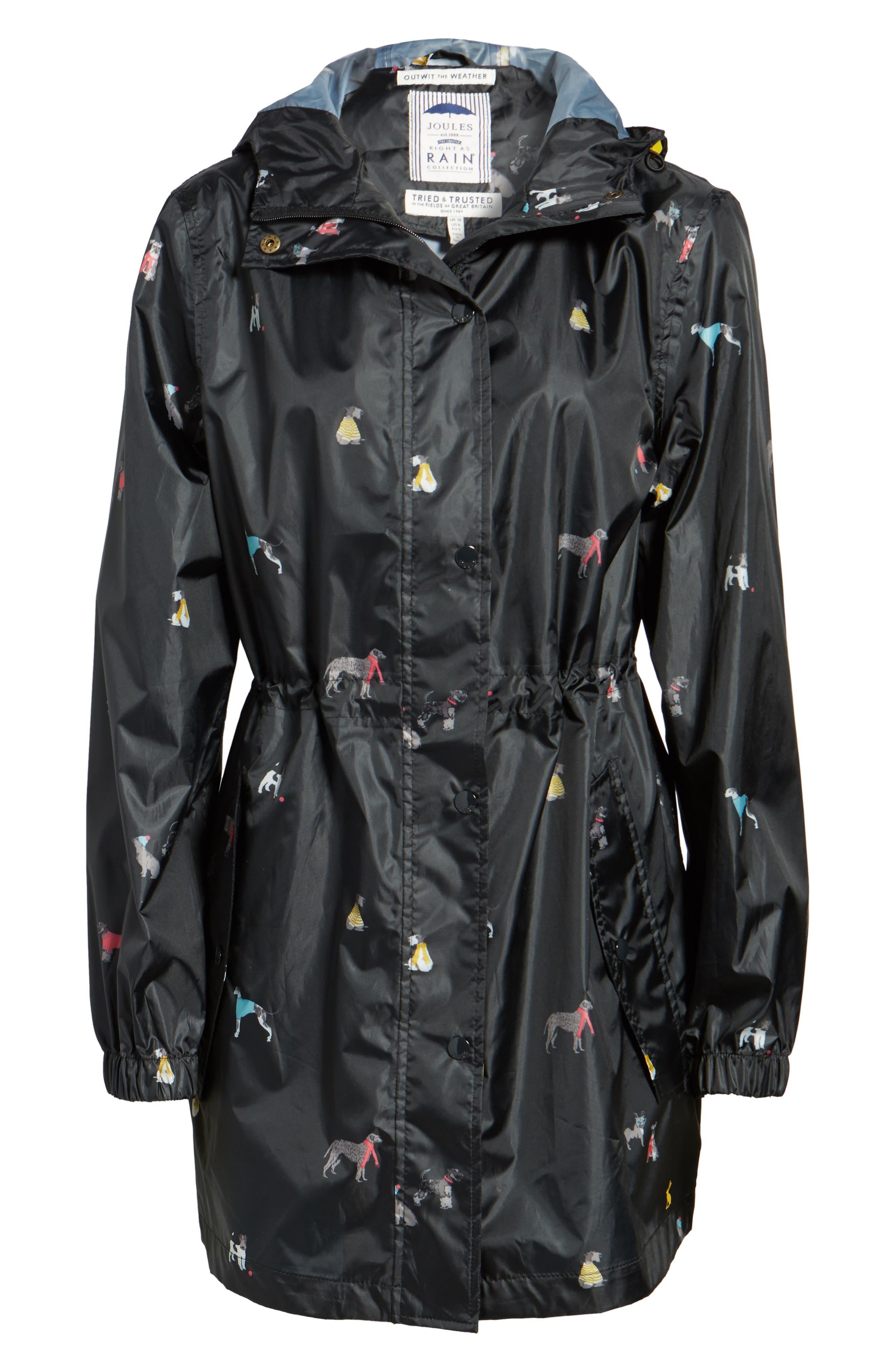 Alternate Image 6  - Joules Right as Rain Packable Print Hooded Raincoat