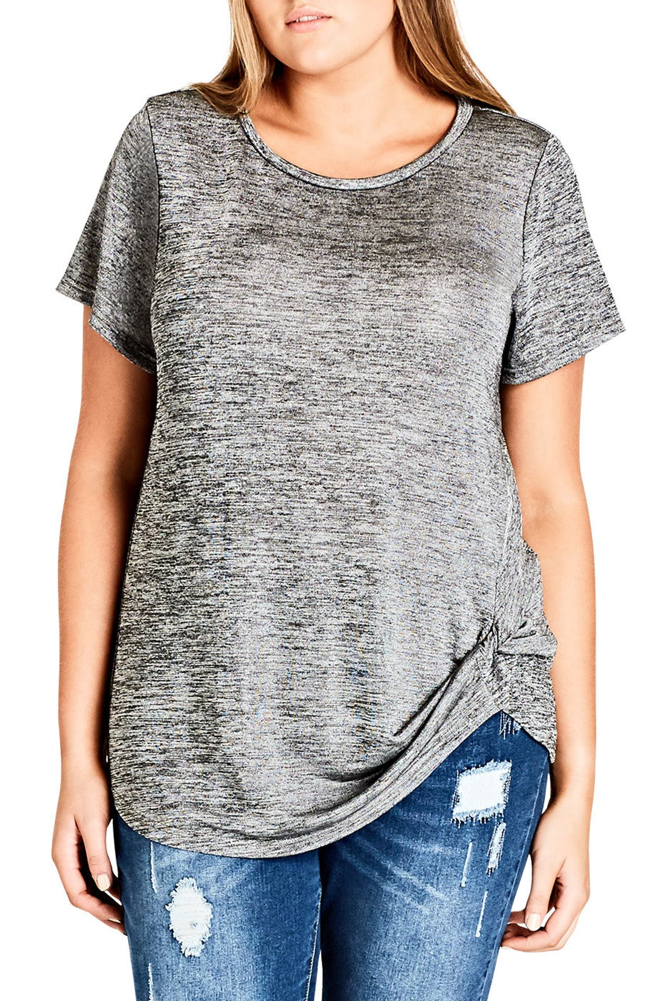 Main Image - City Chic In Knots Top (Plus Size)
