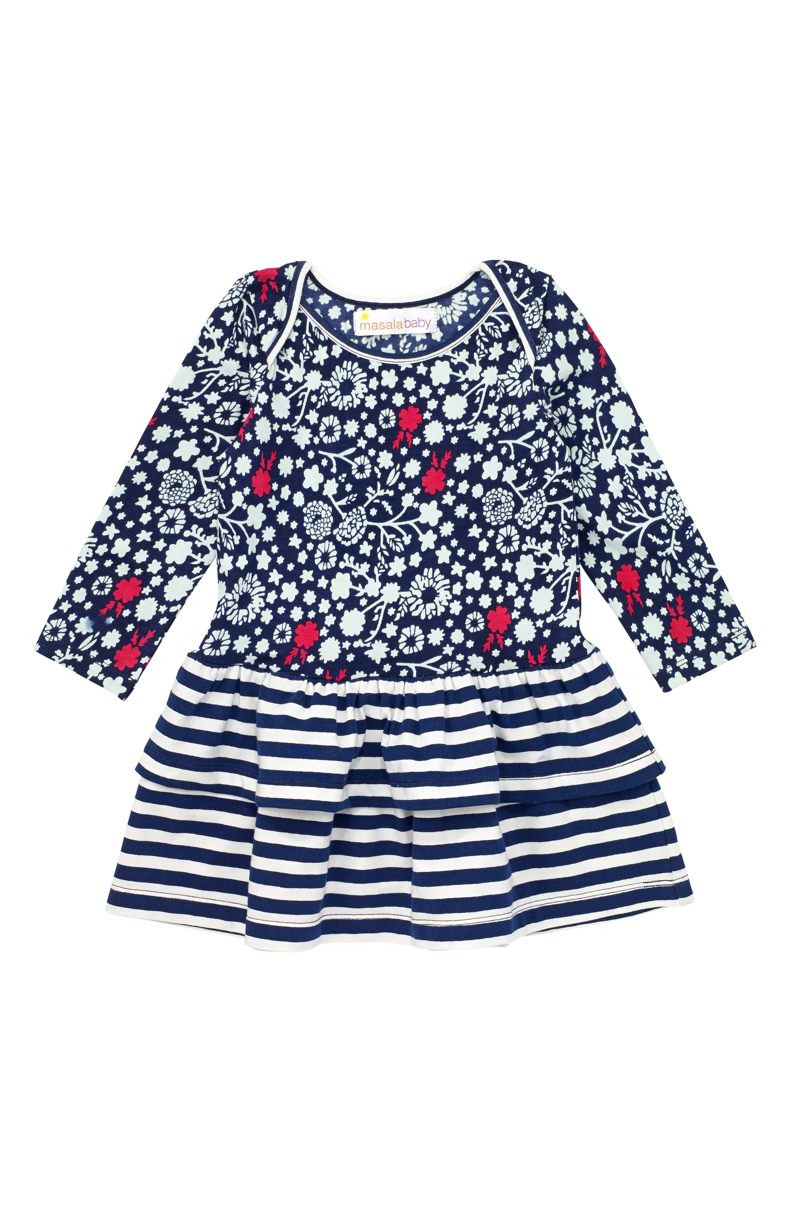 Masalababy Belle Bloom Organic Cotton Dress (Baby Girls)