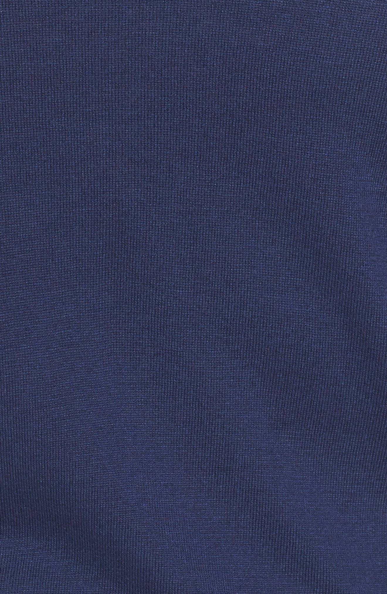 Crop Open Front Cardigan,                             Alternate thumbnail 5, color,                             Navy Medieval