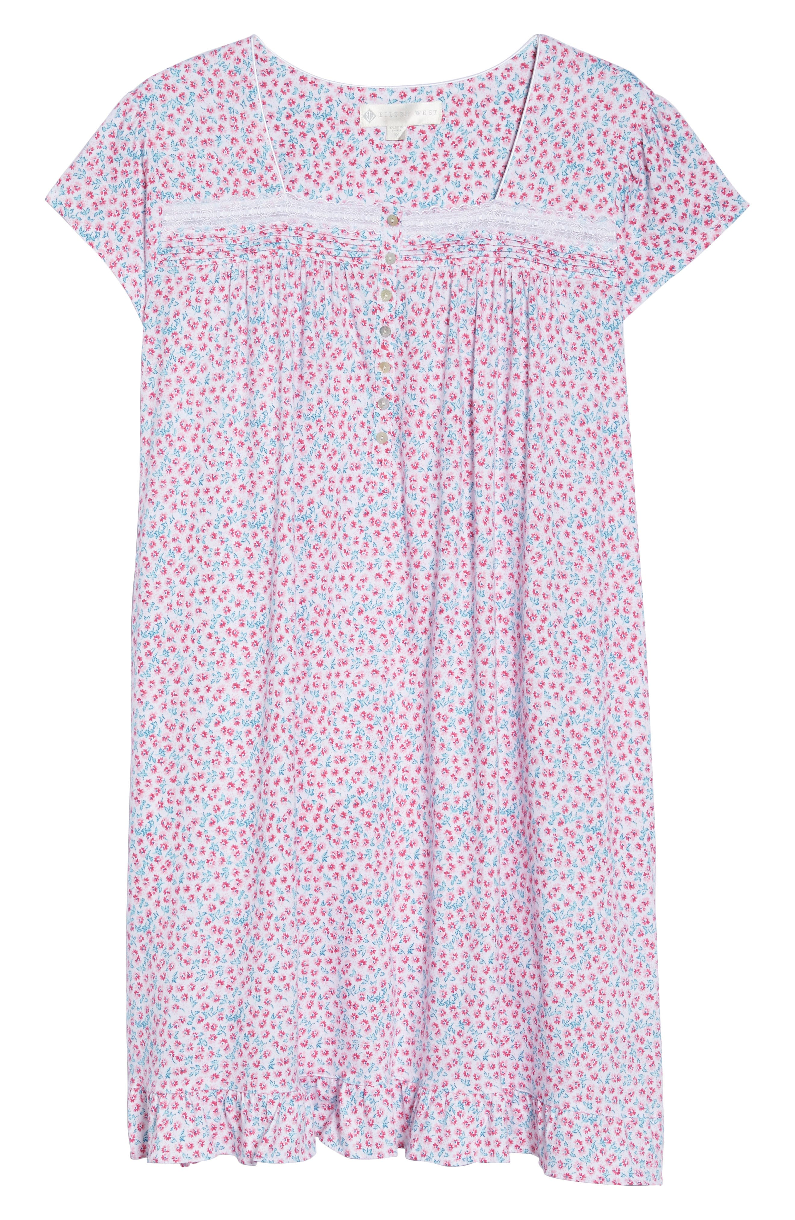 Short Nightgown,                             Alternate thumbnail 4, color,                             Pink