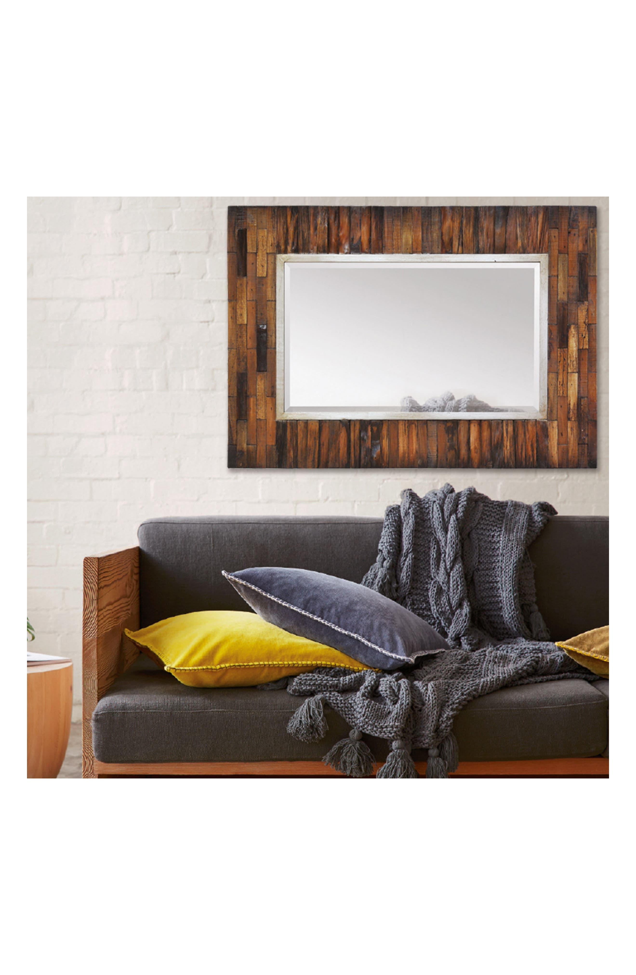 Pretoria Wood Mirror,                             Alternate thumbnail 2, color,                             Natural Wood