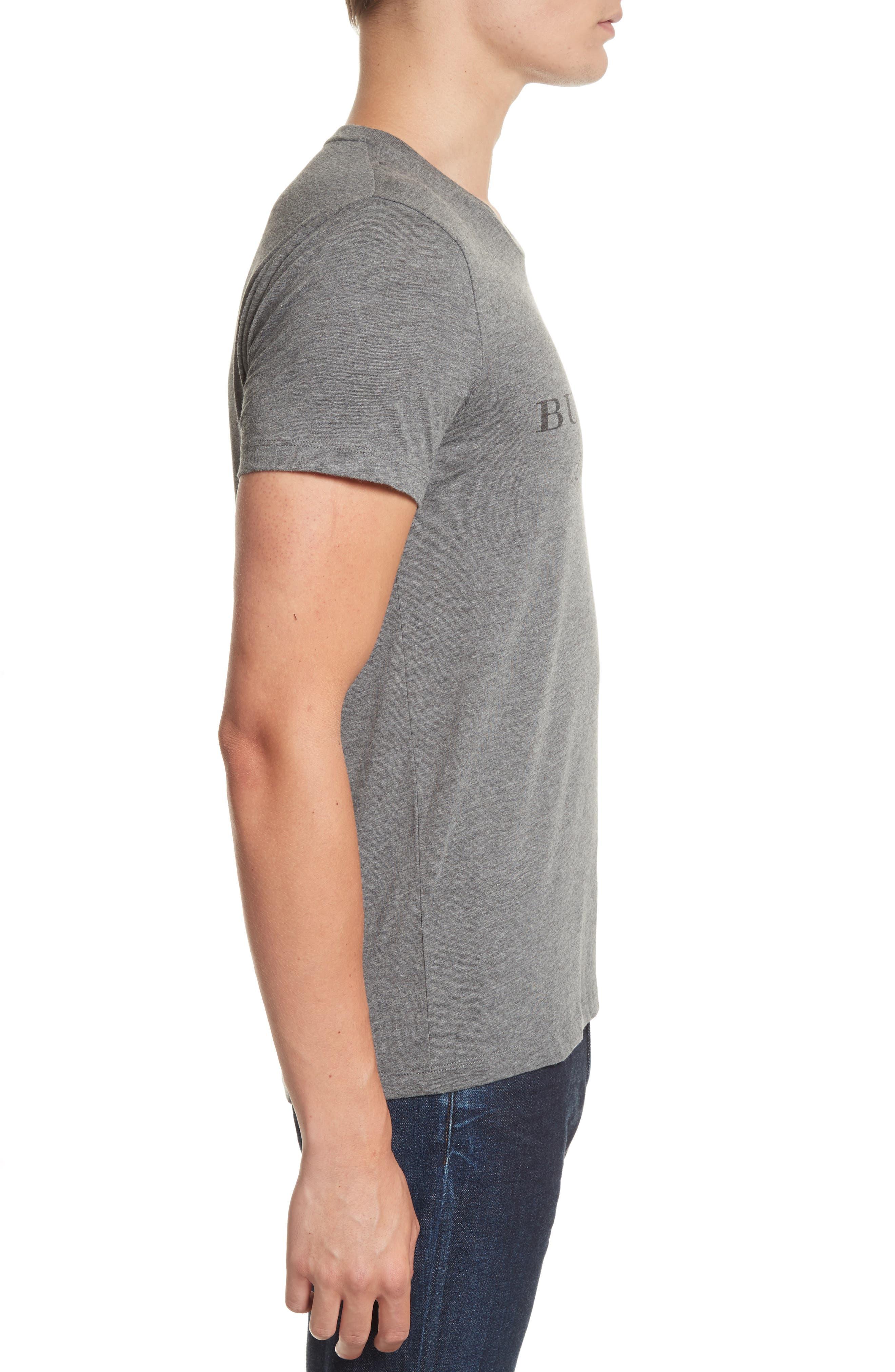 Martford Regular Fit T-Shirt,                             Alternate thumbnail 3, color,                             Grey Melange