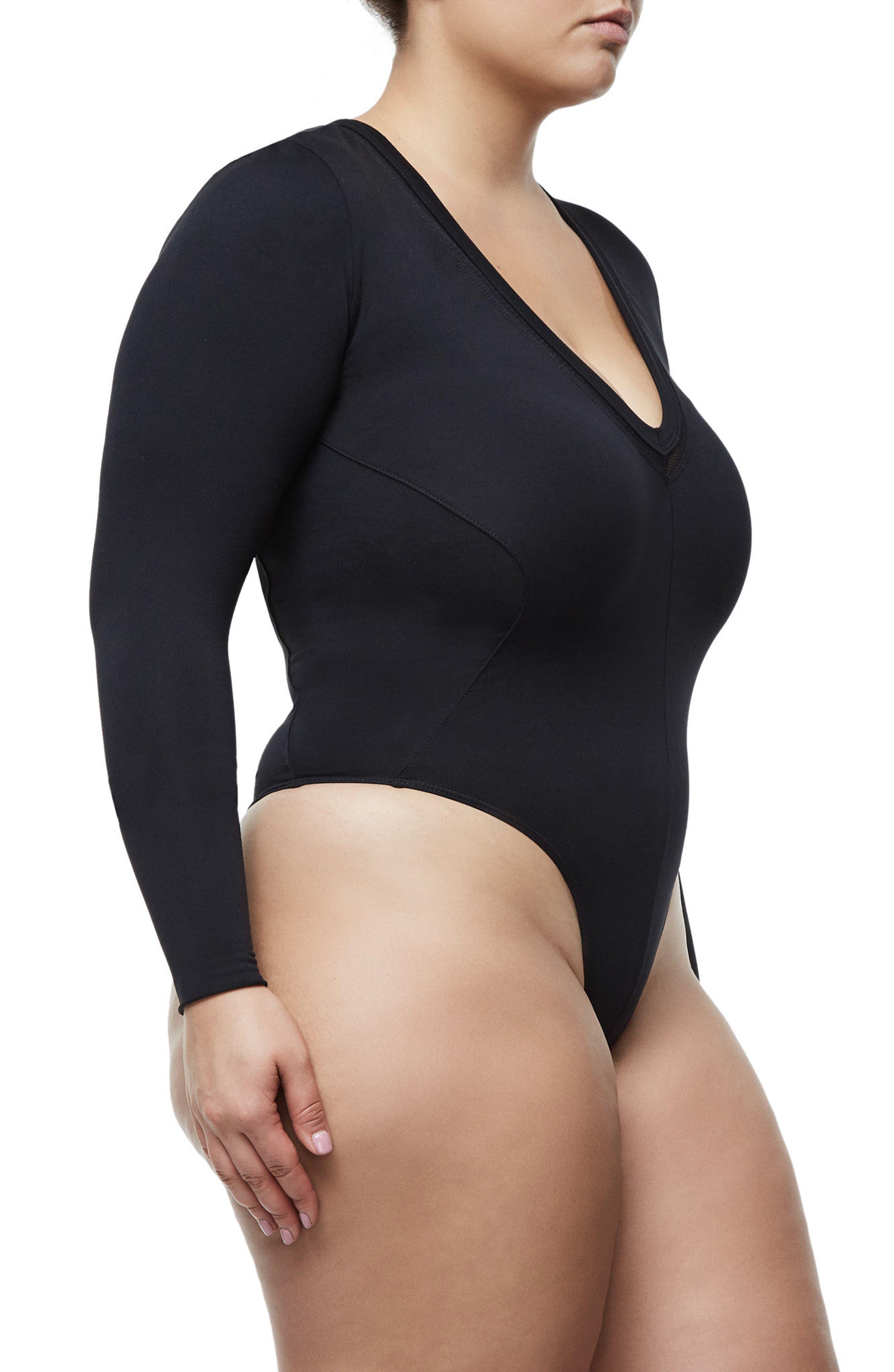 Alternate Image 8  - Good Body Low Down Bodysuit (Extended Sizes)