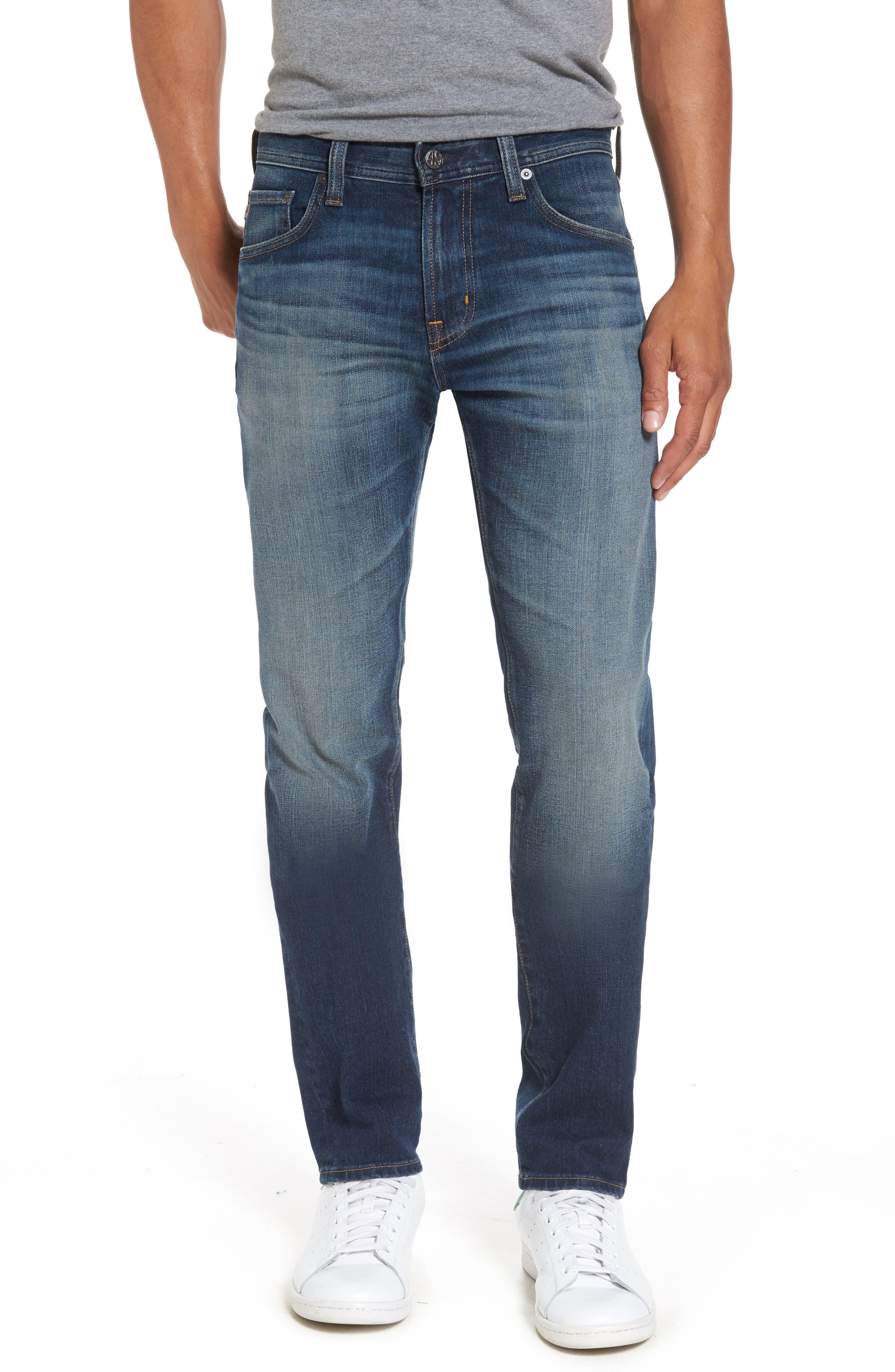 Alternate Image 1 Selected - AG Tellis Slim Fit Jeans (10 Years Shortcut)