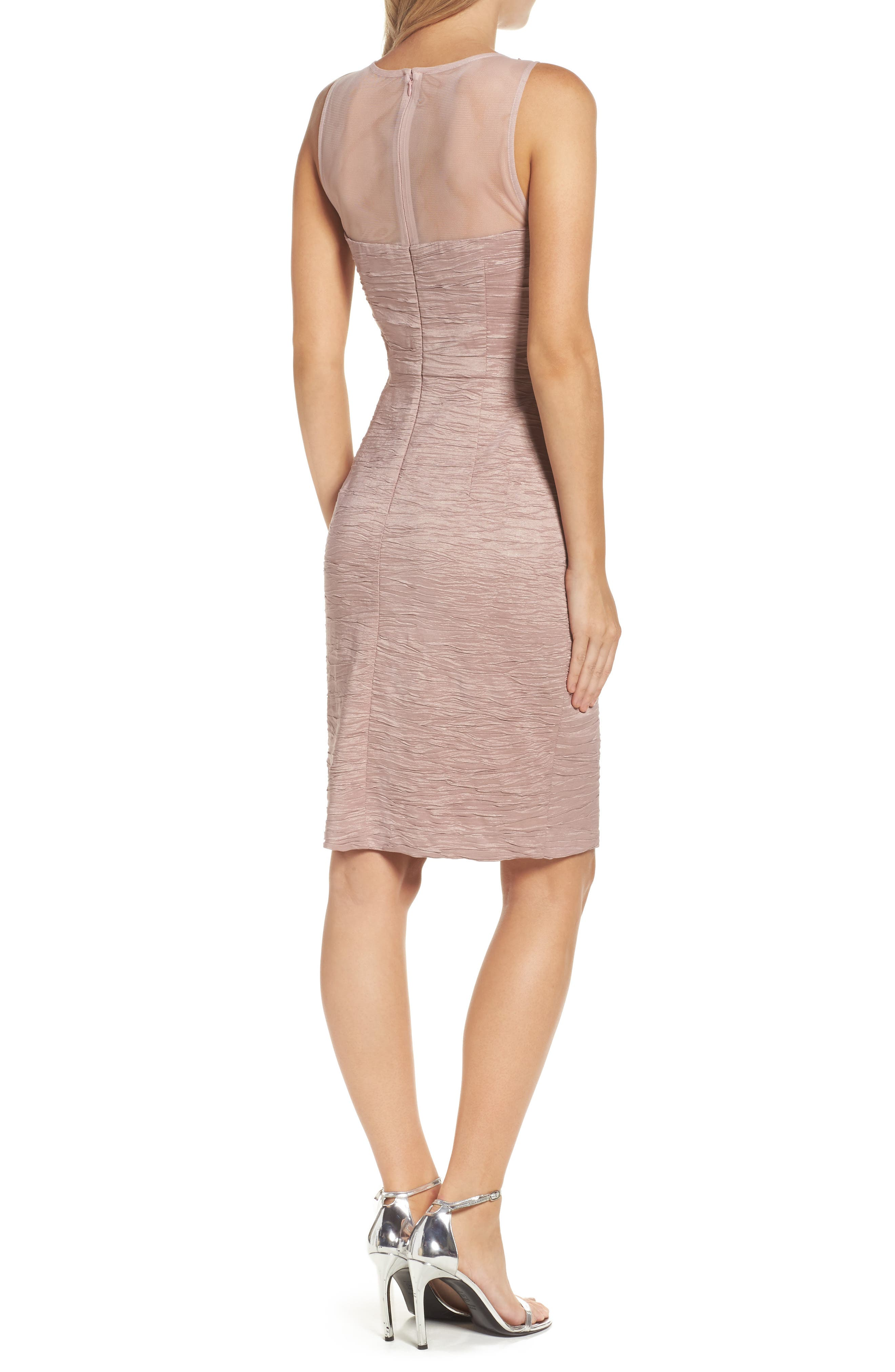 Alternate Image 2  - Eliza J Metallic Sheath Dress (Regular & Petite)