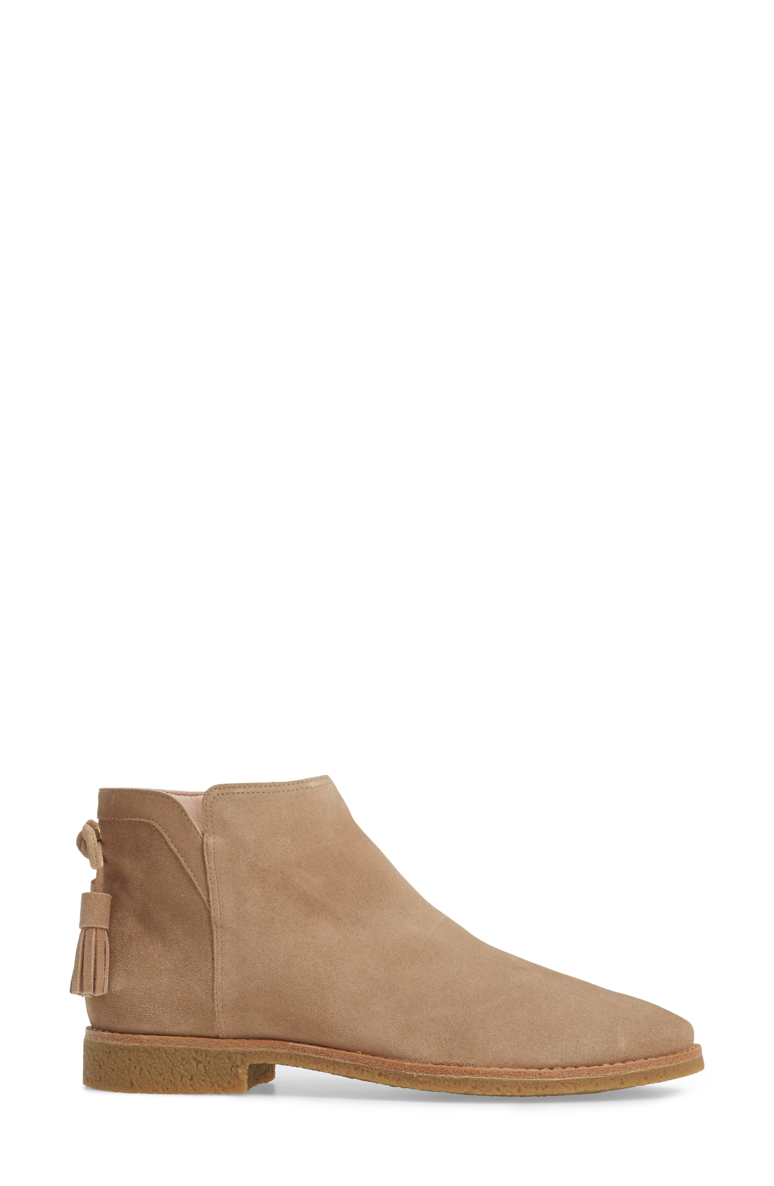 belleville bootie,                             Alternate thumbnail 3, color,                             Desert Suede