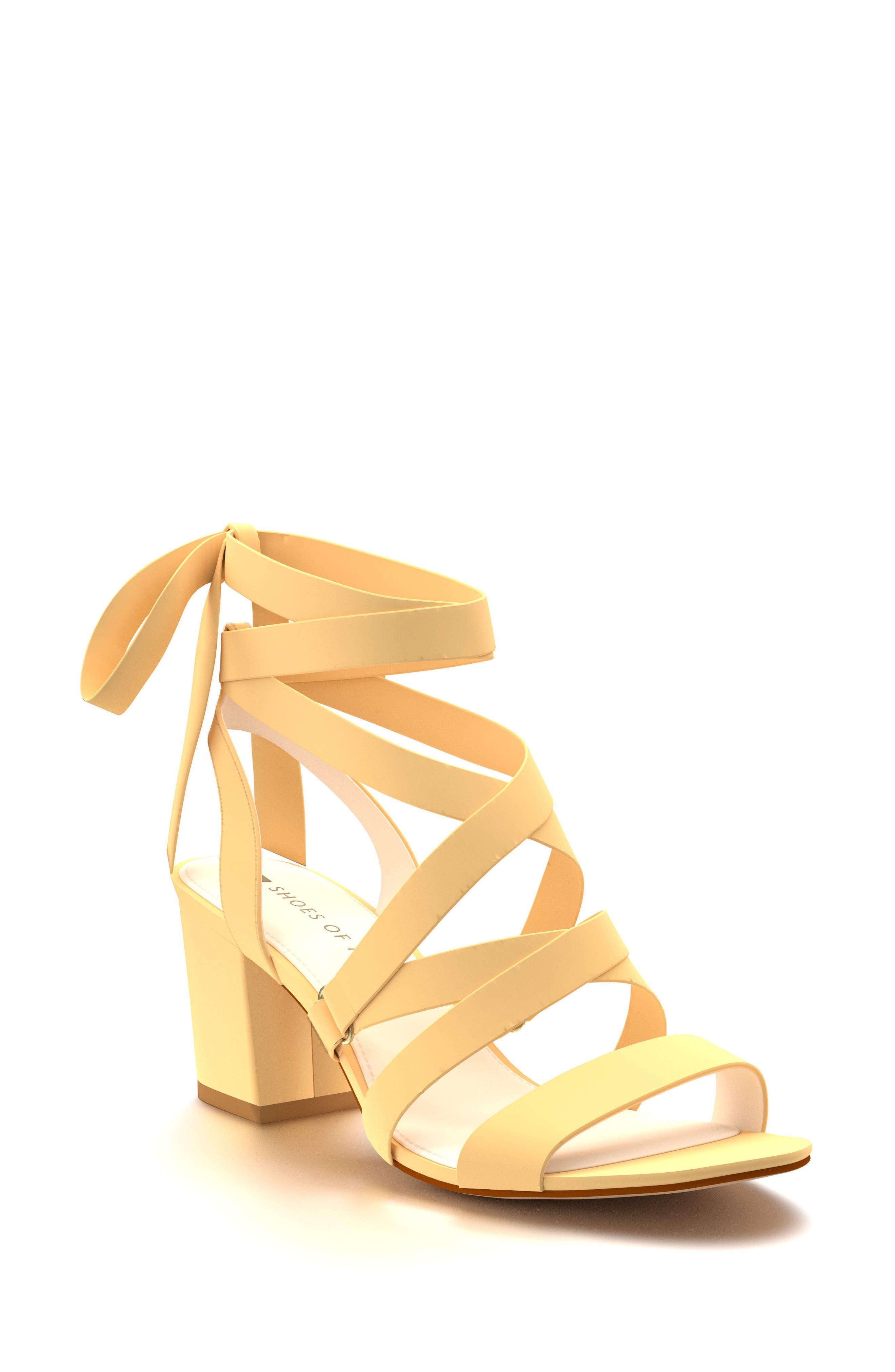 Cross Strap Sandal,                         Main,                         color, Butter Suede