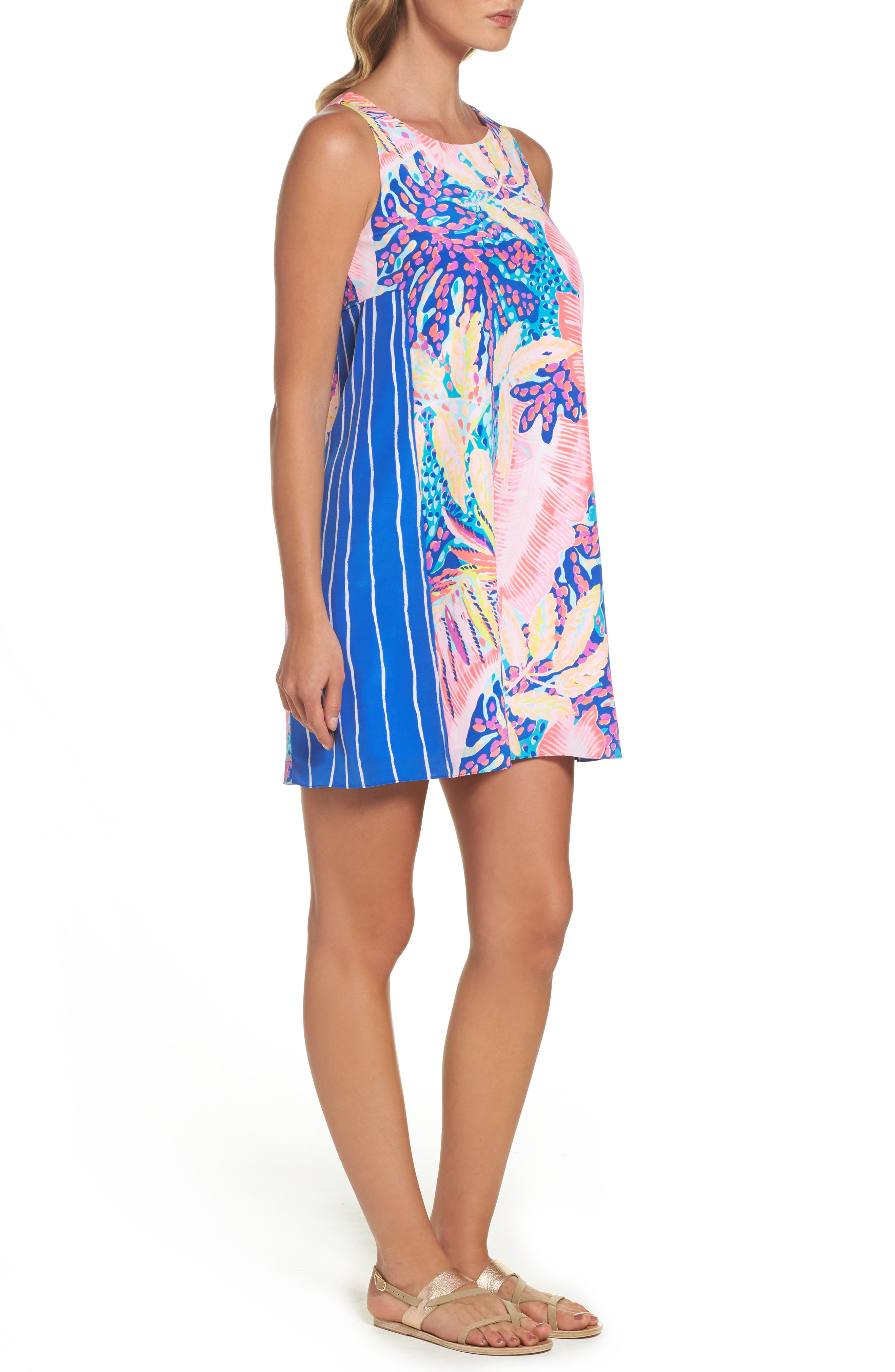 Jackie Silk Shift Dress,                         Main,                         color, Multi Off The Grid