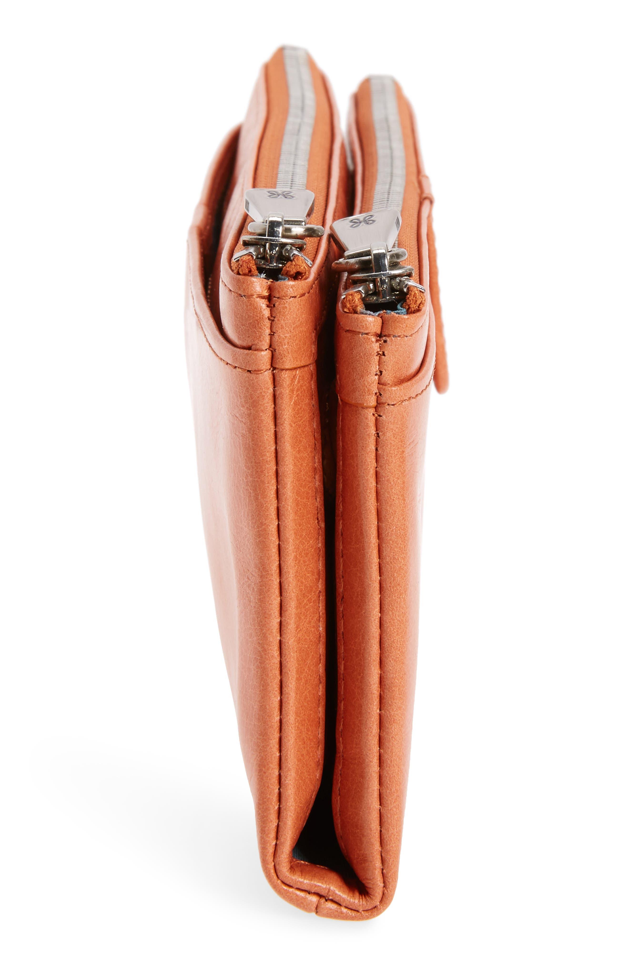 Alternate Image 5  - Hobo 'Taylor' Glazed Leather Wallet
