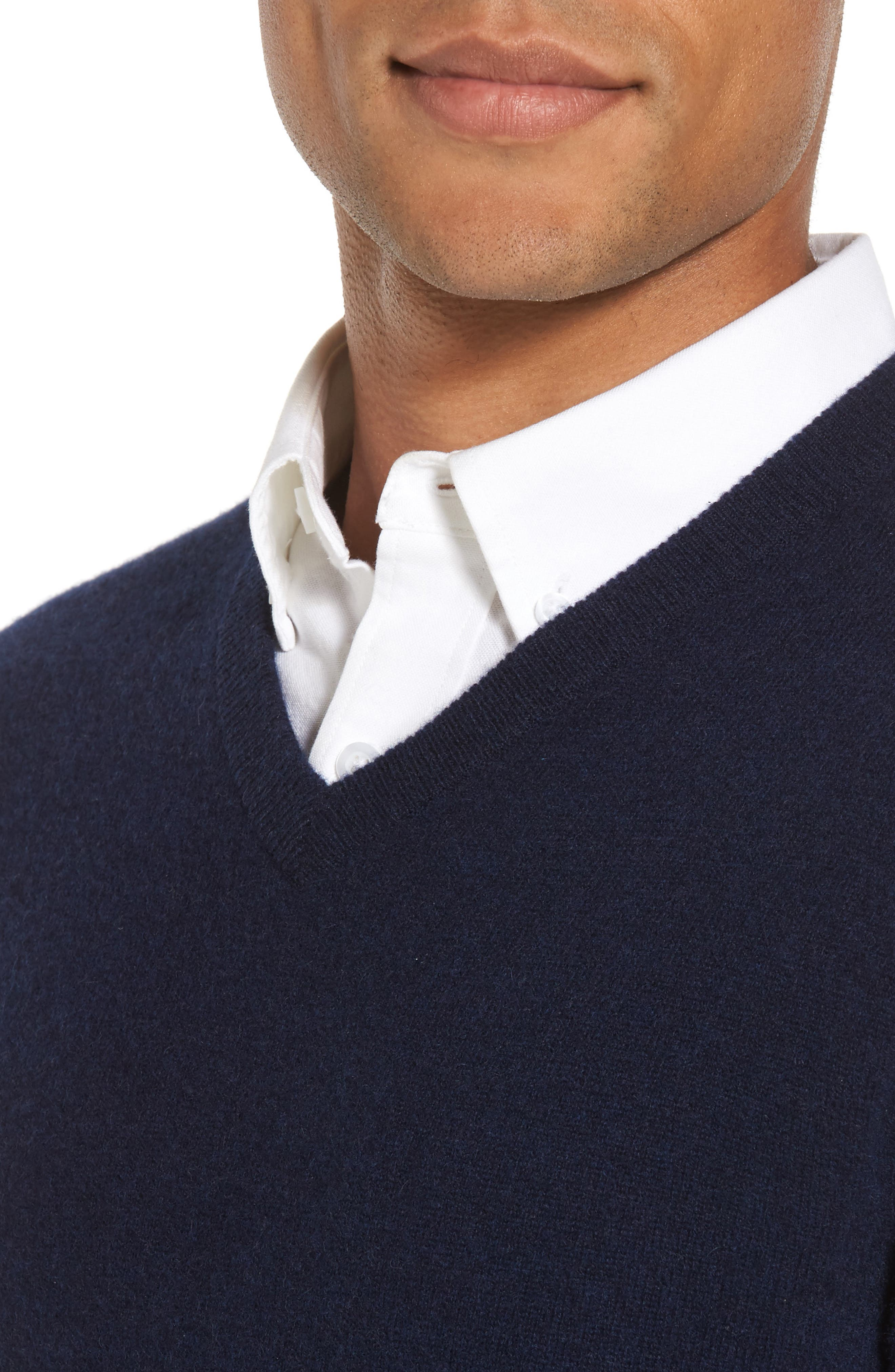 Alternate Image 4  - Nordstrom Men's Shop Cashmere V-Neck Sweater