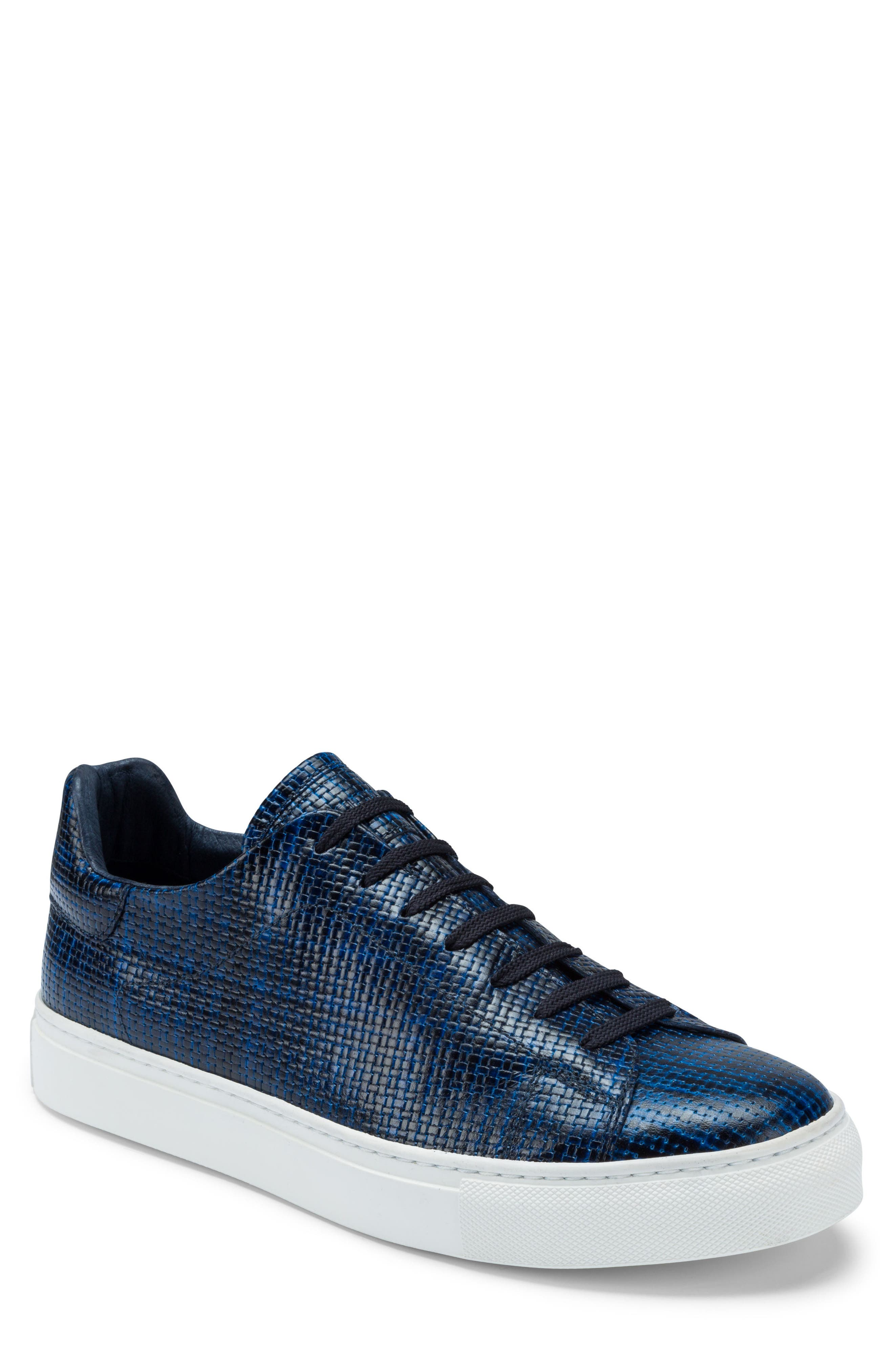 Wimbledon Sneaker,                         Main,                         color, Navy Leather